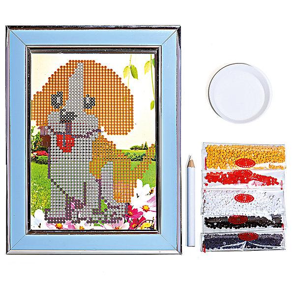 Мозаичная картина ЩенокМозаика детская<br>Мозаичная картина Щенок.<br><br>Характеристика: <br><br>• Материал: картон, пластик, клей. <br>• Размер картинки: 17х21 см. <br>• Размер мозаичного элемента: 2,5 мм. <br>• Комплектация: контейнер для элементов мозаики, мозаичные элементы, специальный клеевой карандаш, трафарет со схемой рисунка, декоративная пластиковая рамка с оргстеклом. <br>• Яркие, насыщенные цвета. <br>• Отлично развивает моторику рук, внимание, мышление и воображение. <br><br>Создание картины из мозаики - увлекательное и полезное занятие, в процессе которого ребенок сможет развить моторику рук, внимание, усидчивость, цветовосприятие и воображение. В этом наборе уже есть все для создания маленького шедевра! Нужно лишь приклеить мозаичные элементы на основу с нанесенным контуром - и яркая картинка готова.<br><br>Мозаичную картину Щенок можно купить в нашем магазине.<br>Ширина мм: 200; Глубина мм: 225; Высота мм: 30; Вес г: 250; Возраст от месяцев: 84; Возраст до месяцев: 144; Пол: Унисекс; Возраст: Детский; SKU: 5417614;