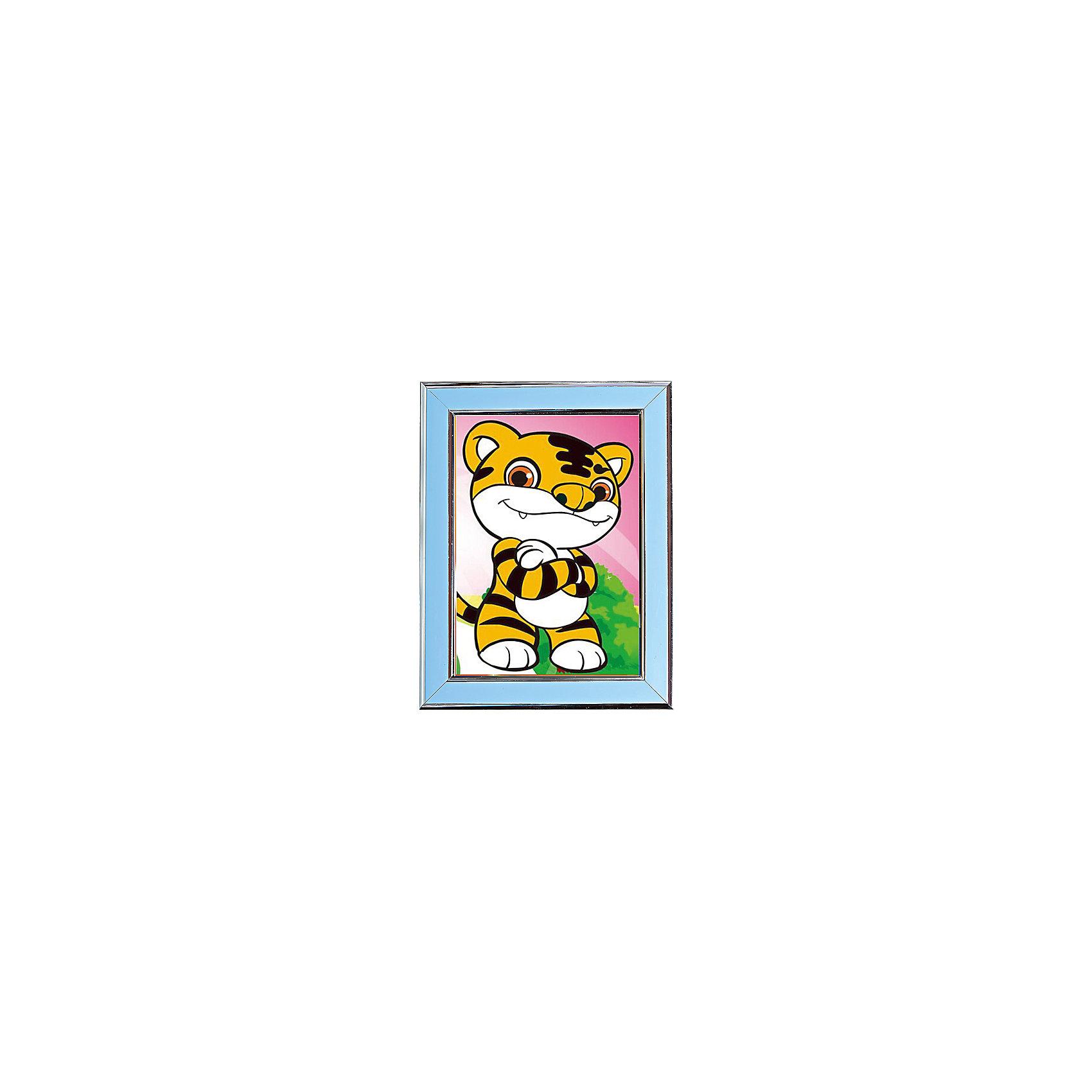 Мозаичная картина ТигренокМозаичная картина Тигренок. <br><br>Характеристика: <br><br>• Материал: картон, пластик, клей. <br>• Размер картинки: 17х21 см. <br>• Размер мозаичного элемента: 2,5 мм. <br>• Комплектация: контейнер для элементов мозаики, мозаичные элементы, специальный клеевой карандаш, трафарет со схемой рисунка, декоративная пластиковая рамка с оргстеклом. <br>• Яркие, насыщенные цвета. <br>• Отлично развивает моторику рук, внимание, мышление и воображение. <br><br>Создание картины из мозаики - увлекательное и полезное занятие, в процессе которого ребенок сможет развить моторику рук, внимание, усидчивость, цветовосприятие и воображение. В этом наборе уже есть все для создания маленького шедевра! Нужно лишь приклеить мозаичные элементы на основу с нанесенным контуром - и яркая картинка готова.<br><br>Мозаичную картину Тигренок можно купить в нашем магазине.<br><br>Ширина мм: 200<br>Глубина мм: 225<br>Высота мм: 30<br>Вес г: 250<br>Возраст от месяцев: 84<br>Возраст до месяцев: 36<br>Пол: Унисекс<br>Возраст: Детский<br>SKU: 5417616