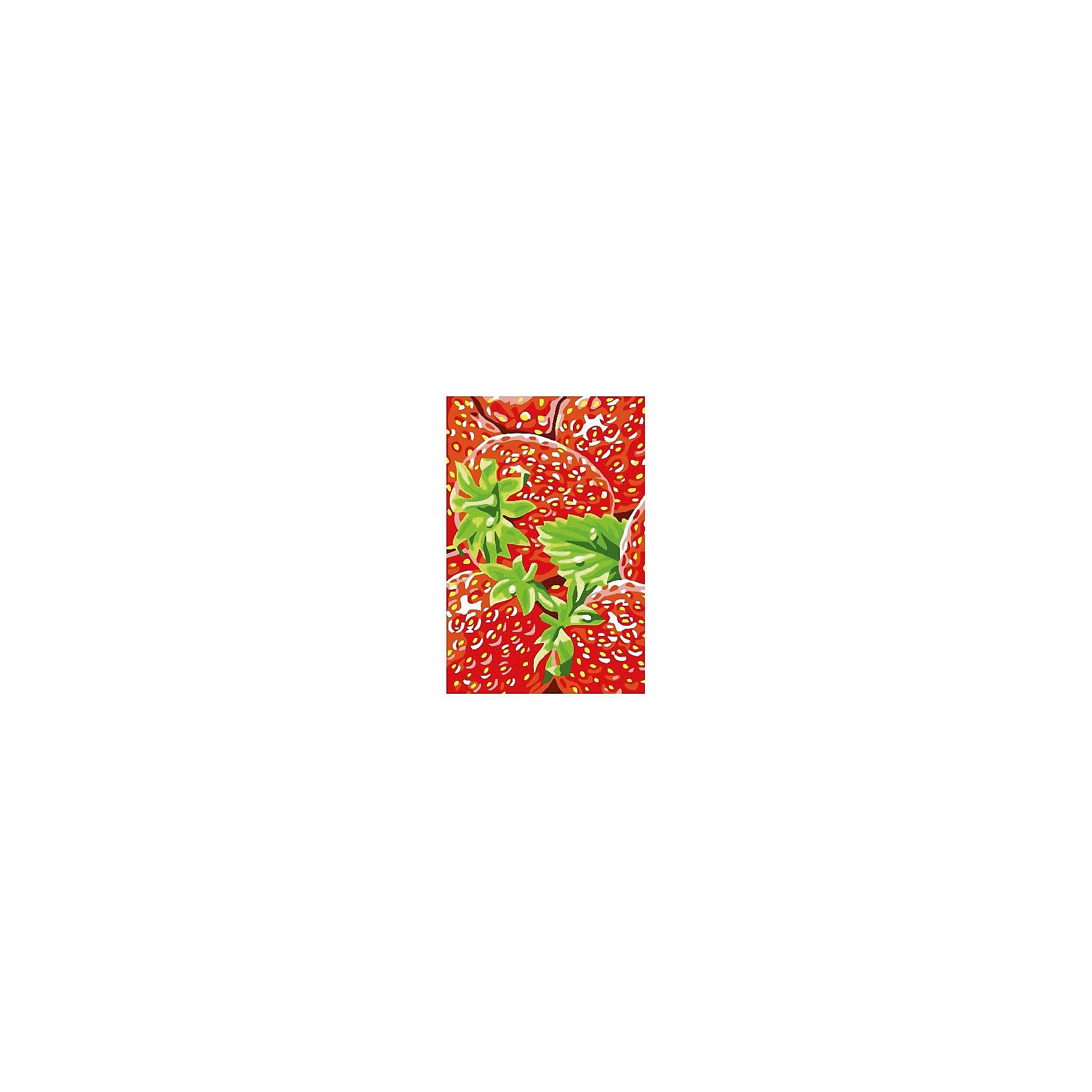 Набор юного художника Клубника, 20*30 смДетские картины с раскраской по номерам размером 20*30. На деревянном подрамнике, с прогрунтованным холстом и  нанесенными контурами картины, с указанием цвета закраски, акриловыми красками, 3 кисточками и креплением на стену. Уровень сложности, количество красок указаны на коробке.<br><br>Ширина мм: 300<br>Глубина мм: 200<br>Высота мм: 30<br>Вес г: 330<br>Возраст от месяцев: 60<br>Возраст до месяцев: 2147483647<br>Пол: Унисекс<br>Возраст: Детский<br>SKU: 5417631