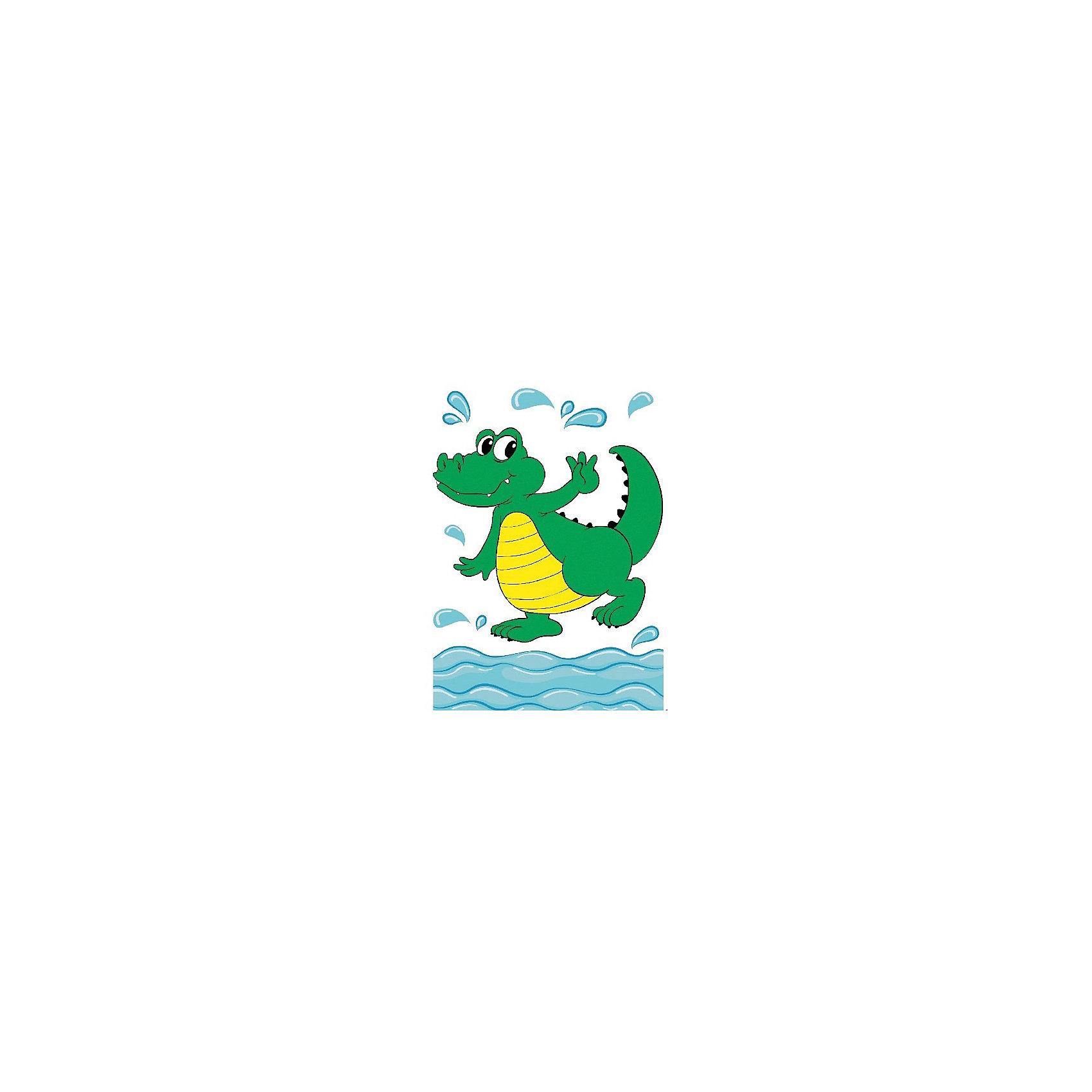 Набор юного художника Крокодил Тошка, 20*30 смРисование<br>Детские картины с раскраской по номерам размером 20*30. На деревянном подрамнике, с прогрунтованным холстом и  нанесенными контурами картины, с указанием цвета закраски, акриловыми красками, 3 кисточками и креплением на стену. Уровень сложности, количество красок указаны на коробке.<br><br>Ширина мм: 300<br>Глубина мм: 200<br>Высота мм: 30<br>Вес г: 330<br>Возраст от месяцев: 60<br>Возраст до месяцев: 108<br>Пол: Унисекс<br>Возраст: Детский<br>SKU: 5417646