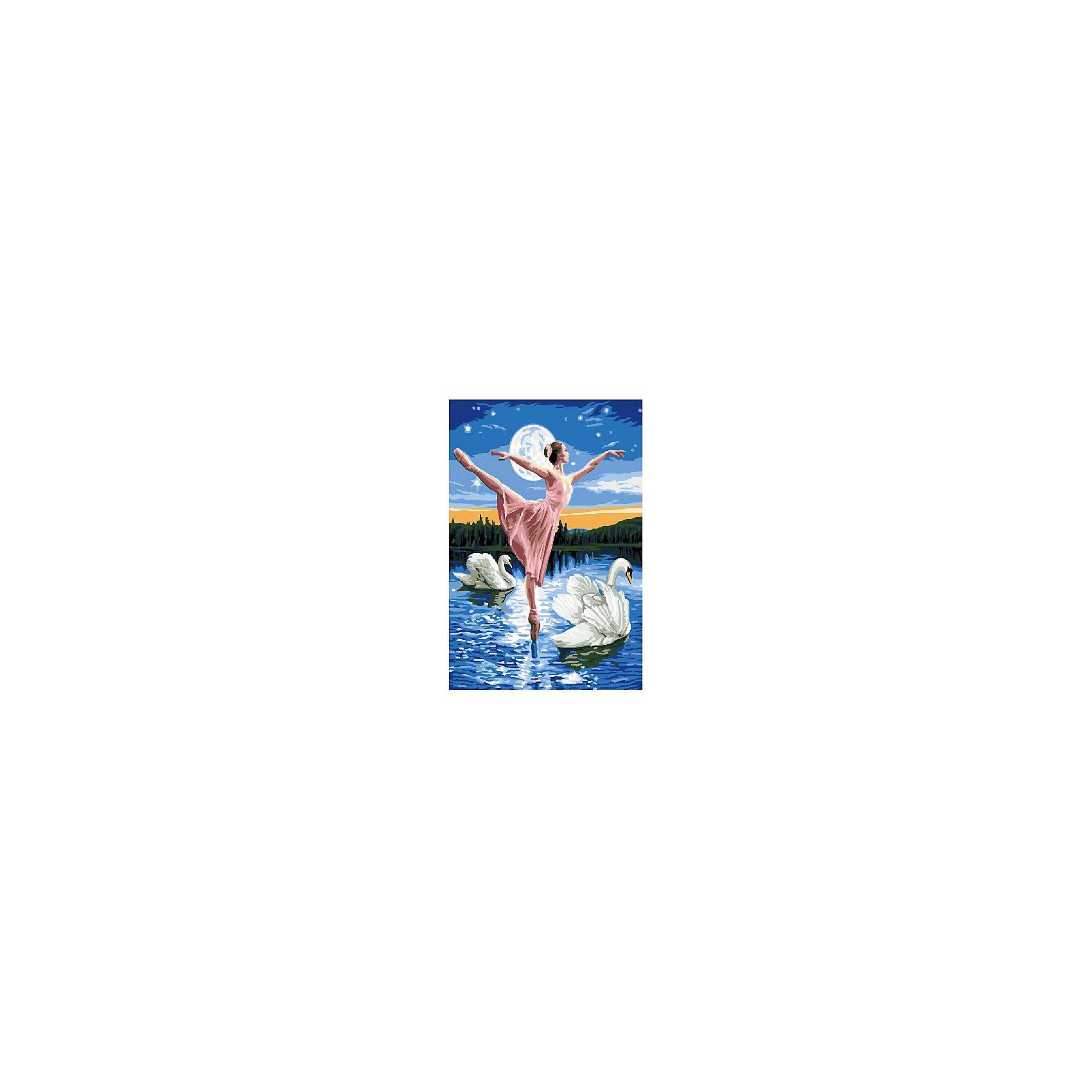 Набор юного художника Лебединое озеро, 20*30 смДетские картины с раскраской по номерам размером 20*30. На деревянном подрамнике, с прогрунтованным холстом и  нанесенными контурами картины, с указанием цвета закраски, акриловыми красками, 3 кисточками и креплением на стену. Уровень сложности, количество красок указаны на коробке.<br><br>Ширина мм: 300<br>Глубина мм: 200<br>Высота мм: 30<br>Вес г: 330<br>Возраст от месяцев: 60<br>Возраст до месяцев: 108<br>Пол: Унисекс<br>Возраст: Детский<br>SKU: 5417667