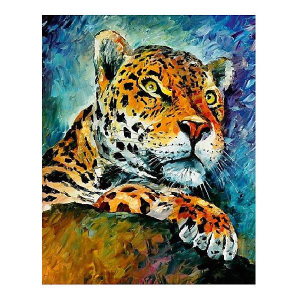 Картина по номерам Афремов: Леопард, 40*50 смРаскраски по номерам<br>Характеристики товара:<br><br>• материал упаковки: картон <br>• в комплект входит: холст, акриловые краски, 3 кисти<br>• количество красок: 27<br>• возраст: от 8 лет<br>• вес: 730 г<br>• размер картинки: 40х50 см<br>• габариты упаковки: 40х50х4 см<br>• страна производитель: Китай<br><br>Наборы для создания картин по номерам совсем недавно появились на рынке, но уже успели завоевать популярность. Закрашивая черно-белые места на картинке, ребенок получит полноценную картину и развитие художественного мастерства. Материалы, использованные при изготовлении товаров, проходят проверку на качество и соответствие международным требованиям по безопасности. <br><br>Картину по номерам Афремов: Леопард, 40*50 см можно купить в нашем интернет-магазине.<br><br>Ширина мм: 500<br>Глубина мм: 400<br>Высота мм: 40<br>Вес г: 730<br>Возраст от месяцев: 108<br>Возраст до месяцев: 2147483647<br>Пол: Унисекс<br>Возраст: Детский<br>SKU: 5417681