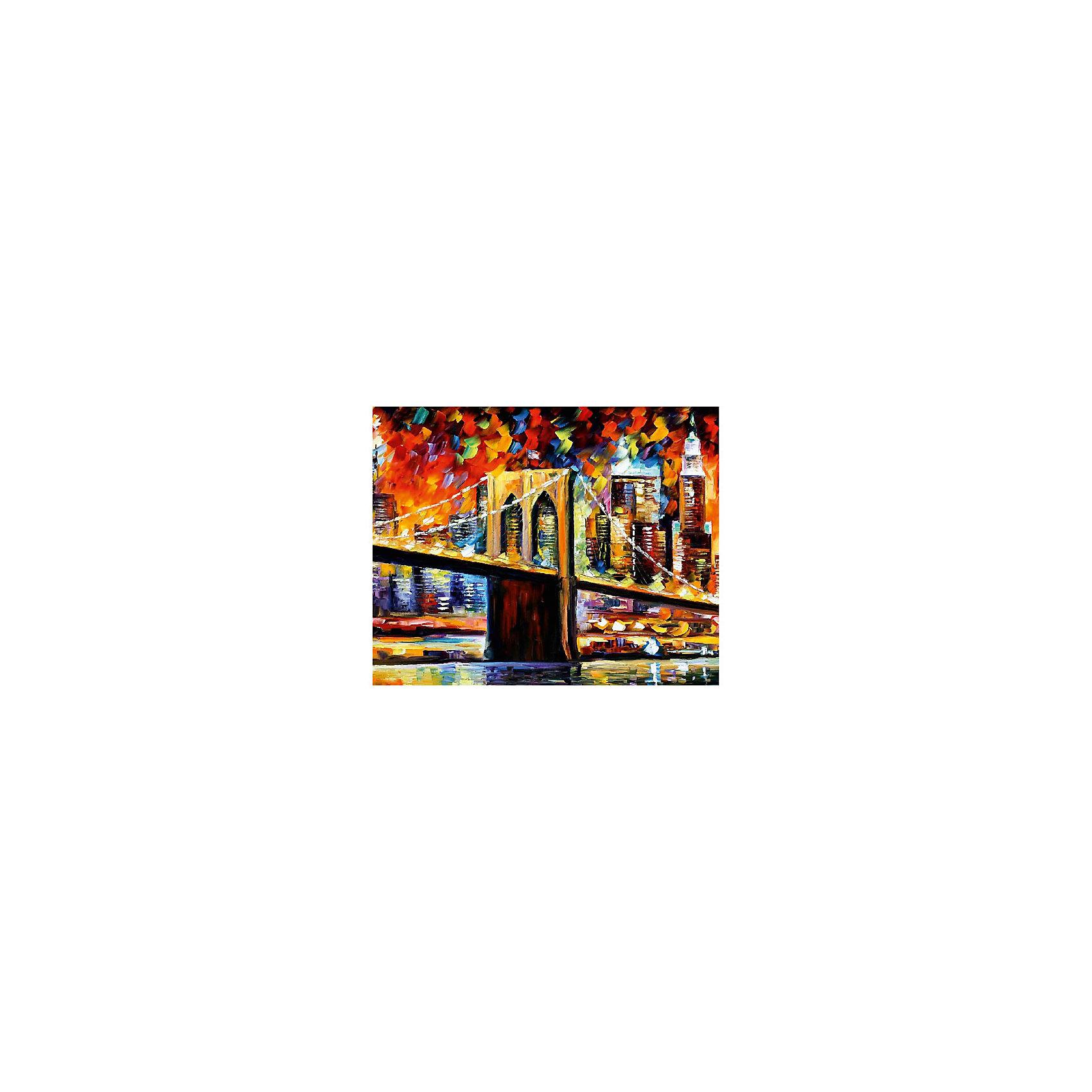 Картина по номерам Афремов: Бруклинский мост, 40*50 смРисование<br>Характеристики товара:<br><br>• материал упаковки: картон <br>• в комплект входит: холст, акриловые краски, 3 кисти<br>• количество красок: 24<br>• возраст: от 8 лет<br>• вес: 730 г<br>• размер картинки: 40х50 см<br>• габариты упаковки: 40х50х4 см<br>• страна производитель: Китай<br><br>Наборы для создания картин по номерам совсем недавно появились на рынке, но уже успели завоевать популярность. Закрашивая черно-белые места на картинке, ребенок получит полноценную картину и развитие художественного мастерства. Материалы, использованные при изготовлении товаров, проходят проверку на качество и соответствие международным требованиям по безопасности. <br><br>Картину по номерам Афремов: Бруклинский мост, 40*50 см можно купить в нашем интернет-магазине.<br><br>Ширина мм: 500<br>Глубина мм: 400<br>Высота мм: 40<br>Вес г: 730<br>Возраст от месяцев: 108<br>Возраст до месяцев: 2147483647<br>Пол: Унисекс<br>Возраст: Детский<br>SKU: 5417683