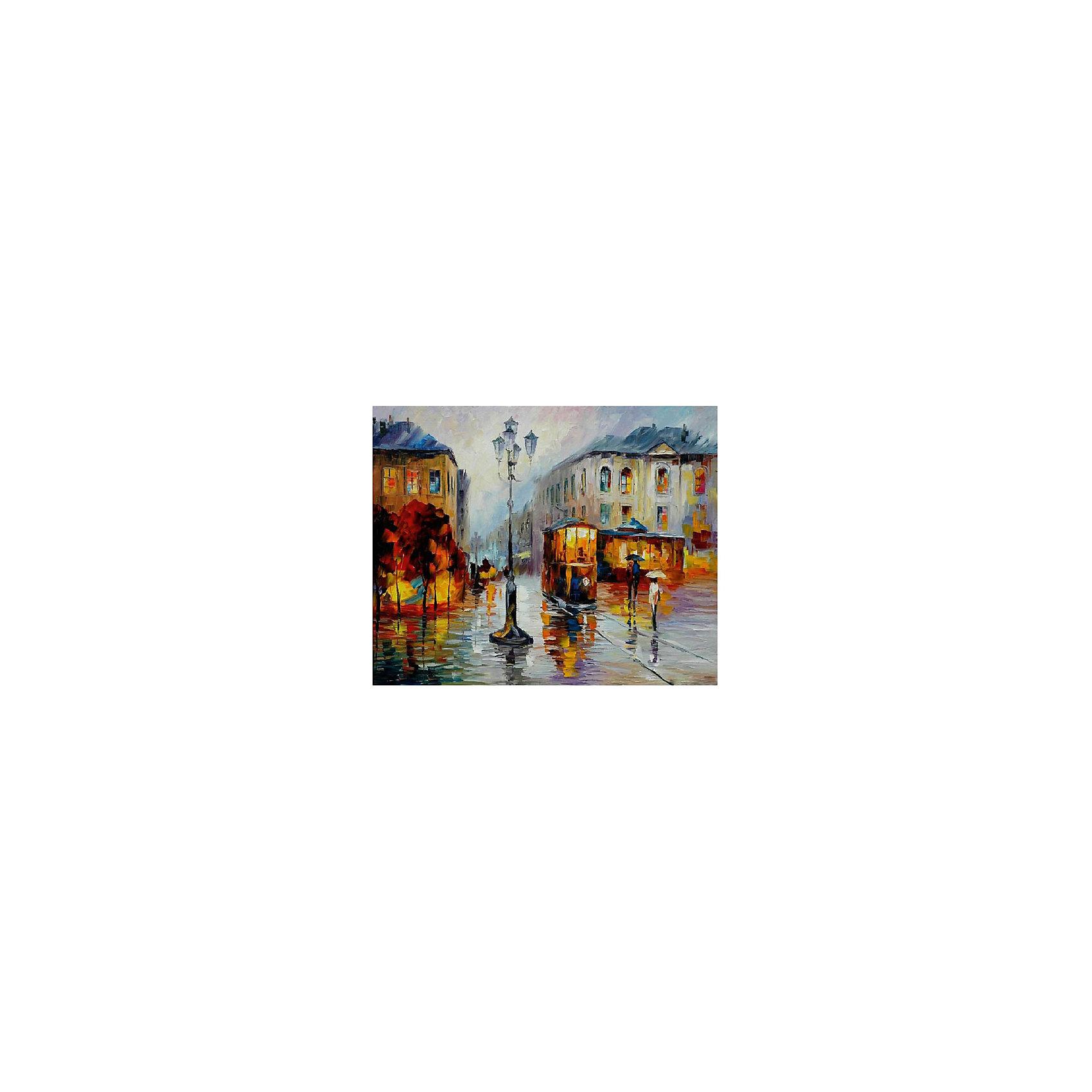 Картина по номерам Афремов: Городской трамвай, 40*50 смРисование<br>Картины с раскраской по номерам размером 40*50. На деревянном подрамнике, с прогрунтованным холстом и  нанесенными контурами картины, с указанием цвета закраски, акриловыми красками, 3 кисточками и креплением на стену. Уровень сложности, количество красок указаны на коробке.<br><br>Ширина мм: 500<br>Глубина мм: 400<br>Высота мм: 40<br>Вес г: 730<br>Возраст от месяцев: 108<br>Возраст до месяцев: 2147483647<br>Пол: Унисекс<br>Возраст: Детский<br>SKU: 5417684
