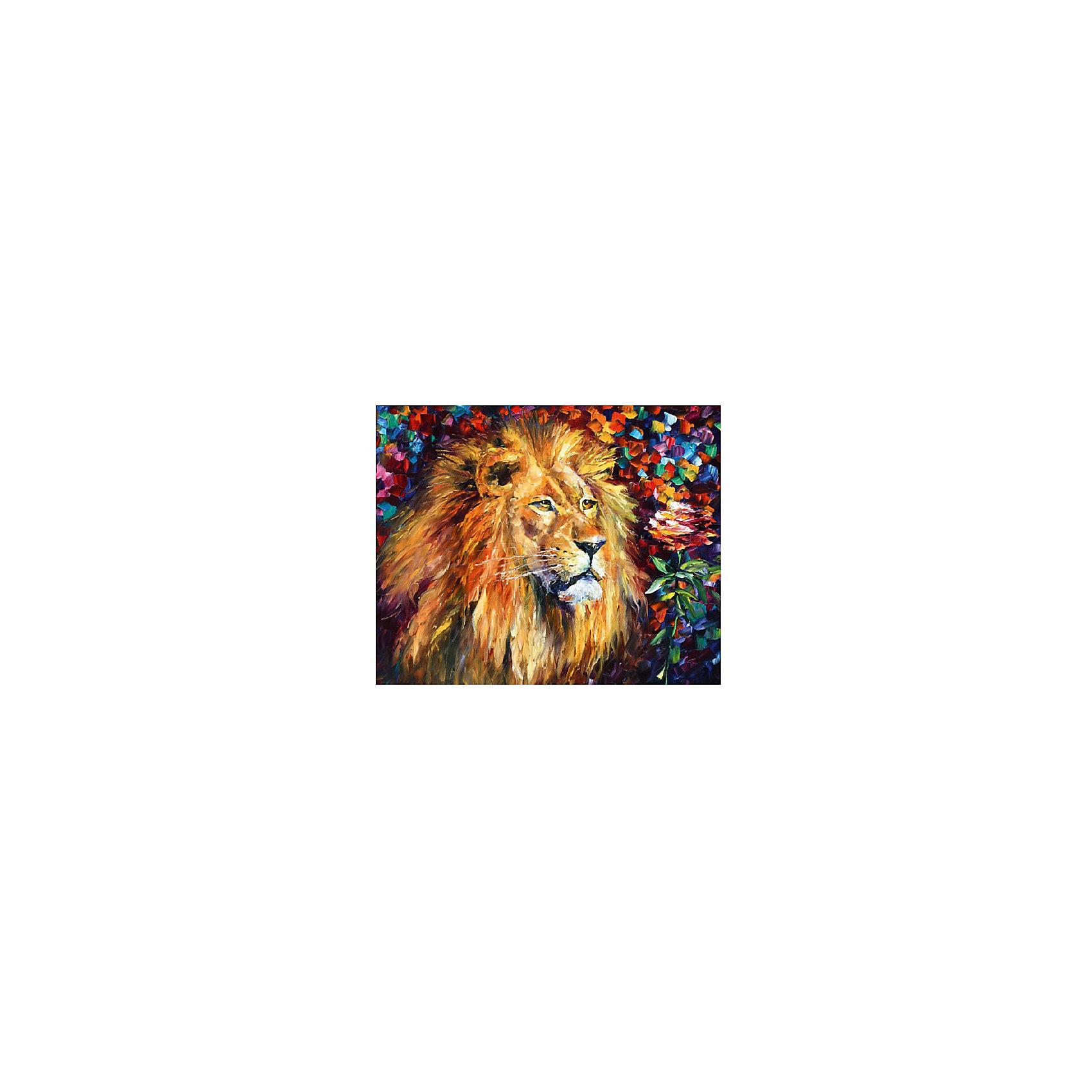 Картина по номерам Афремов: Лев и роза, 40*50 смРисование<br>Картины с раскраской по номерам размером 40*50. На деревянном подрамнике, с прогрунтованным холстом и  нанесенными контурами картины, с указанием цвета закраски, акриловыми красками, 3 кисточками и креплением на стену. Уровень сложности, количество красок указаны на коробке.<br><br>Ширина мм: 500<br>Глубина мм: 400<br>Высота мм: 40<br>Вес г: 730<br>Возраст от месяцев: 108<br>Возраст до месяцев: 2147483647<br>Пол: Унисекс<br>Возраст: Детский<br>SKU: 5417688