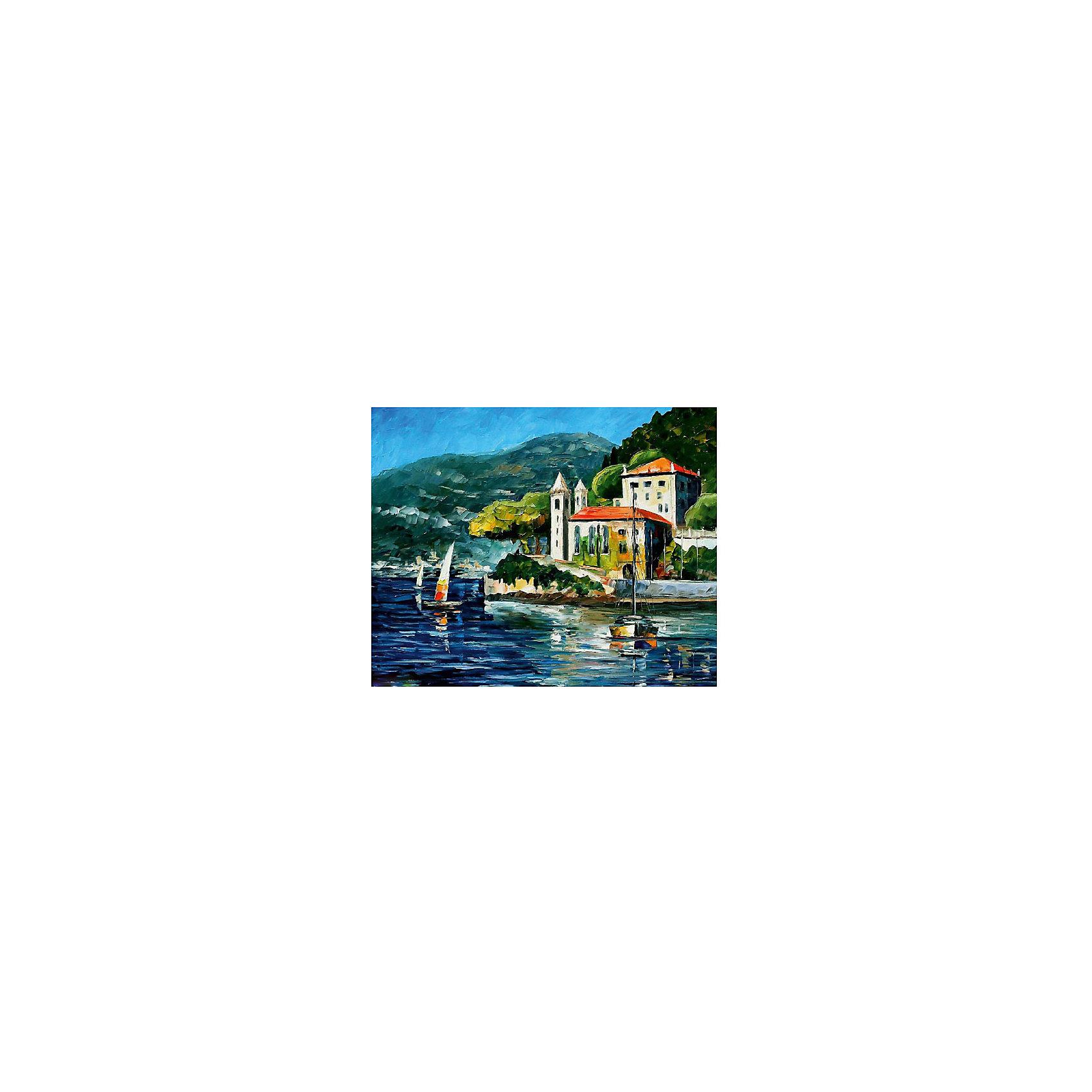 Картина по номерам Афремов: Озеро Комо, Италия, 40*50 смРисование<br>Картины с раскраской по номерам размером 40*50. На деревянном подрамнике, с прогрунтованным холстом и  нанесенными контурами картины, с указанием цвета закраски, акриловыми красками, 3 кисточками и креплением на стену. Уровень сложности, количество красок указаны на коробке.<br><br>Ширина мм: 500<br>Глубина мм: 400<br>Высота мм: 40<br>Вес г: 730<br>Возраст от месяцев: 108<br>Возраст до месяцев: 2147483647<br>Пол: Унисекс<br>Возраст: Детский<br>SKU: 5417694