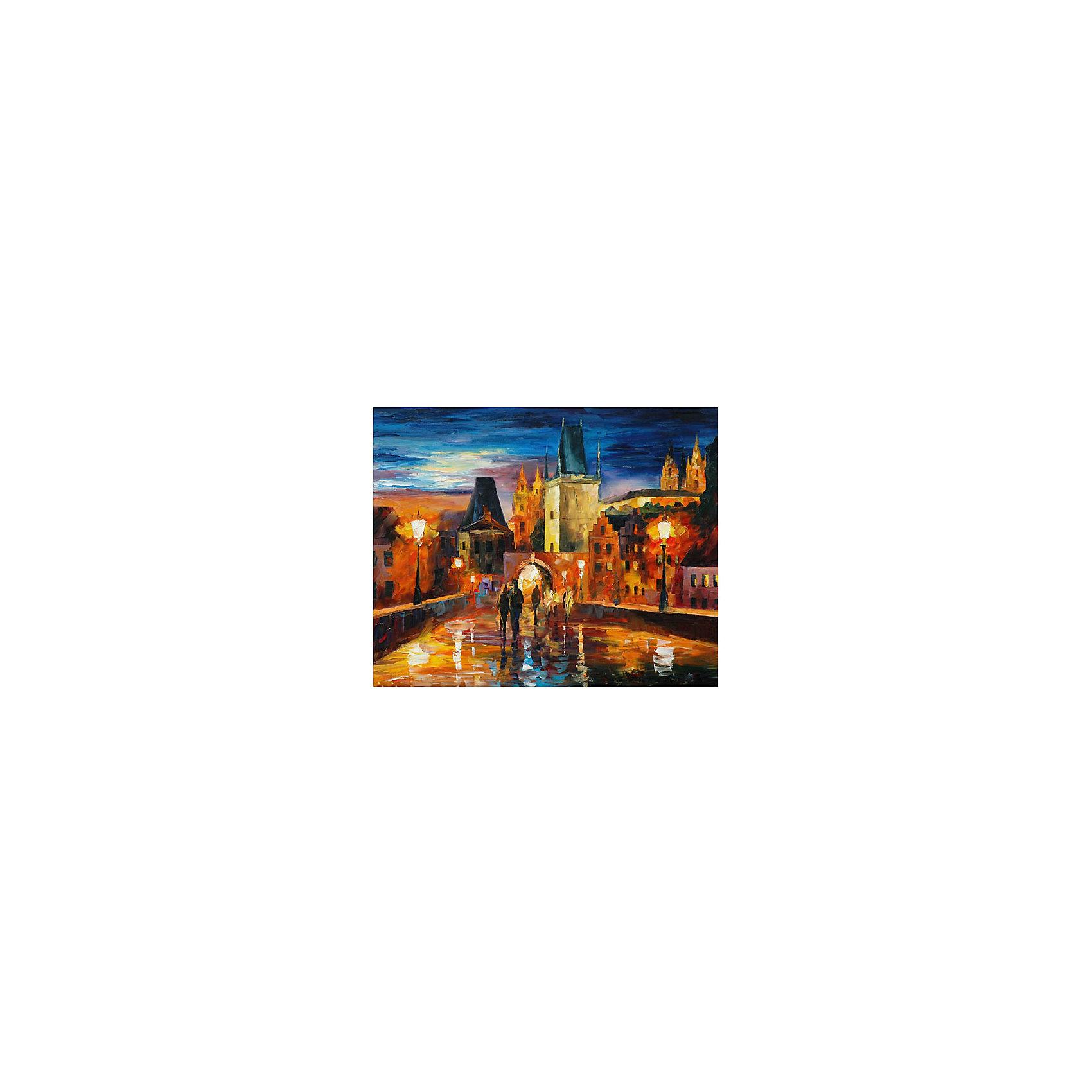 Картина по номерам Афремов: Ночь в Праге, 40*50 смКартины с раскраской по номерам размером 40*50. На деревянном подрамнике, с прогрунтованным холстом и  нанесенными контурами картины, с указанием цвета закраски, акриловыми красками, 3 кисточками и креплением на стену. Уровень сложности, количество красок указаны на коробке.<br><br>Ширина мм: 500<br>Глубина мм: 400<br>Высота мм: 40<br>Вес г: 730<br>Возраст от месяцев: 108<br>Возраст до месяцев: 2147483647<br>Пол: Унисекс<br>Возраст: Детский<br>SKU: 5417695
