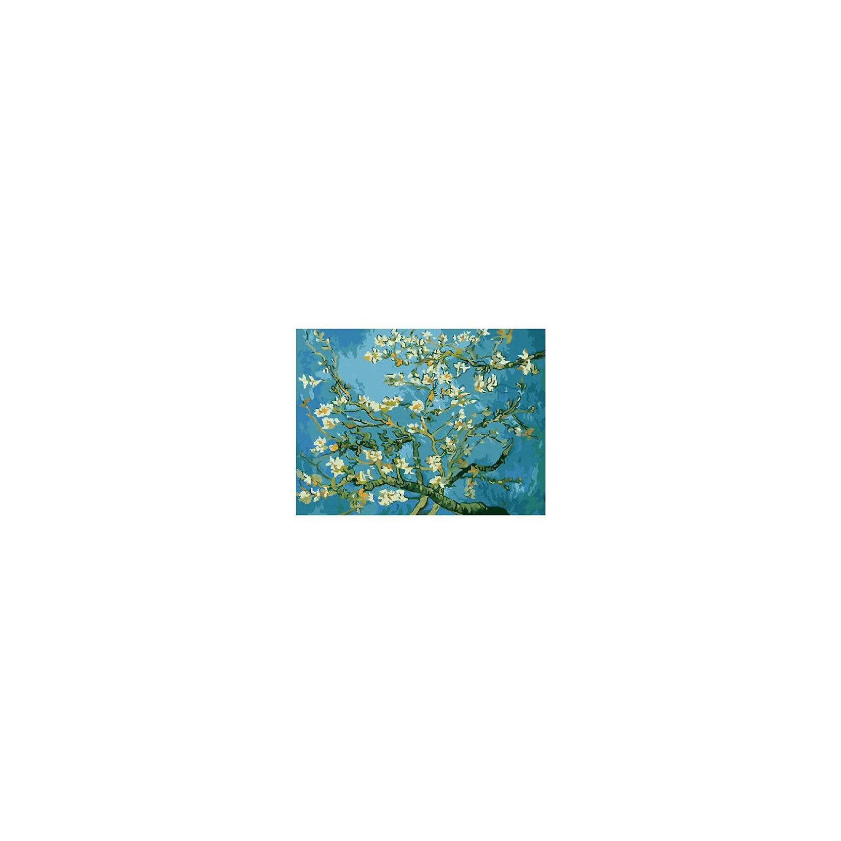 Картина по номерам Ван Гог: Миндаль, 40*50 смРисование<br>Картины с раскраской по номерам размером 40*50. На деревянном подрамнике, с прогрунтованным холстом и  нанесенными контурами картины, с указанием цвета закраски, акриловыми красками, 3 кисточками и креплением на стену. Уровень сложности, количество красок указаны на коробке.<br><br>Ширина мм: 500<br>Глубина мм: 400<br>Высота мм: 40<br>Вес г: 730<br>Возраст от месяцев: 108<br>Возраст до месяцев: 2147483647<br>Пол: Унисекс<br>Возраст: Детский<br>SKU: 5417697