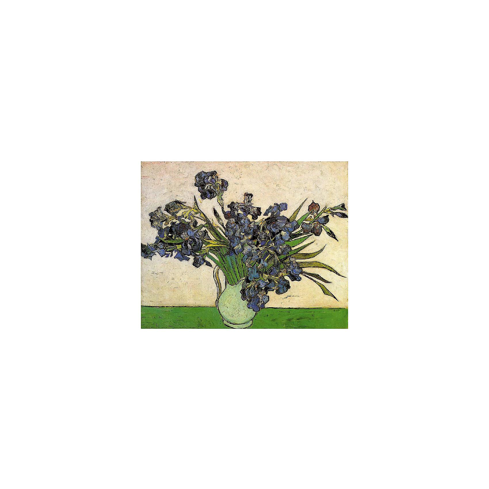 Картина по номерам Ван Гог: Ирисы в вазе, 40*50 смРисование<br>Картины с раскраской по номерам размером 40*50. На деревянном подрамнике, с прогрунтованным холстом и  нанесенными контурами картины, с указанием цвета закраски, акриловыми красками, 3 кисточками и креплением на стену. Уровень сложности, количество красок указаны на коробке.<br><br>Ширина мм: 500<br>Глубина мм: 400<br>Высота мм: 40<br>Вес г: 730<br>Возраст от месяцев: 108<br>Возраст до месяцев: 2147483647<br>Пол: Унисекс<br>Возраст: Детский<br>SKU: 5417702