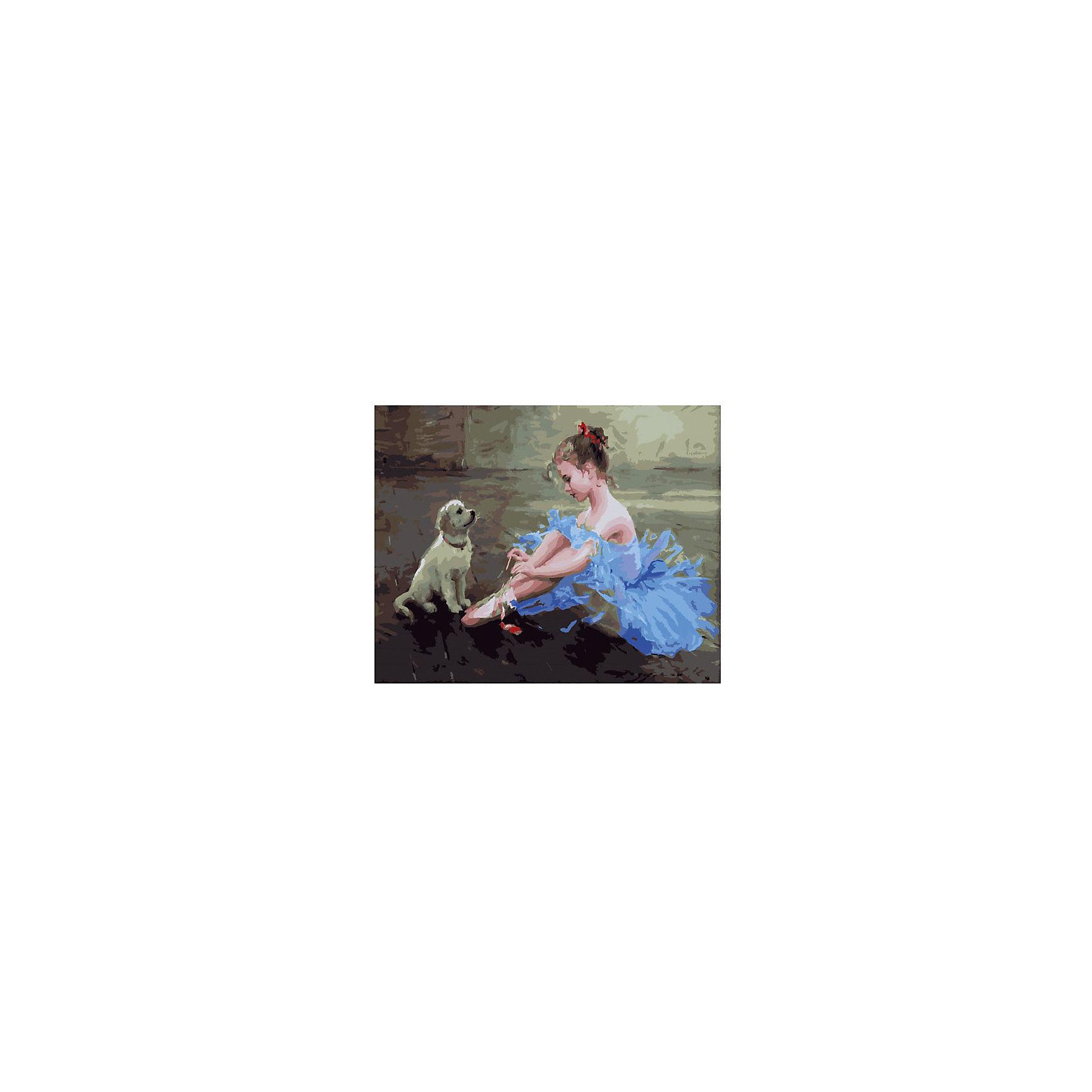 Картина по номерам К. Разумов: Маленькая балерина, 40*50 смКартины с раскраской по номерам размером 40*50. На деревянном подрамнике, с прогрунтованным холстом и  нанесенными контурами картины, с указанием цвета закраски, акриловыми красками, 3 кисточками и креплением на стену. Уровень сложности, количество красок указаны на коробке.<br><br>Ширина мм: 500<br>Глубина мм: 400<br>Высота мм: 40<br>Вес г: 730<br>Возраст от месяцев: 108<br>Возраст до месяцев: 2147483647<br>Пол: Унисекс<br>Возраст: Детский<br>SKU: 5417703