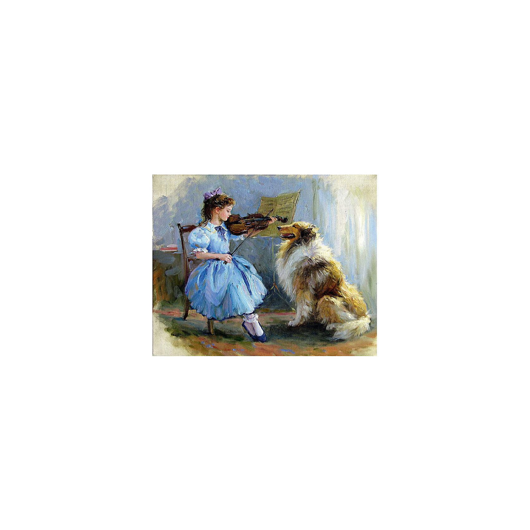 Картина по номерам К. Разумов: Благодарный слушатель, 40*50 смКартины с раскраской по номерам размером 40*50. На деревянном подрамнике, с прогрунтованным холстом и  нанесенными контурами картины, с указанием цвета закраски, акриловыми красками, 3 кисточками и креплением на стену. Уровень сложности, количество красок указаны на коробке.<br><br>Ширина мм: 500<br>Глубина мм: 400<br>Высота мм: 40<br>Вес г: 730<br>Возраст от месяцев: 108<br>Возраст до месяцев: 2147483647<br>Пол: Унисекс<br>Возраст: Детский<br>SKU: 5417706
