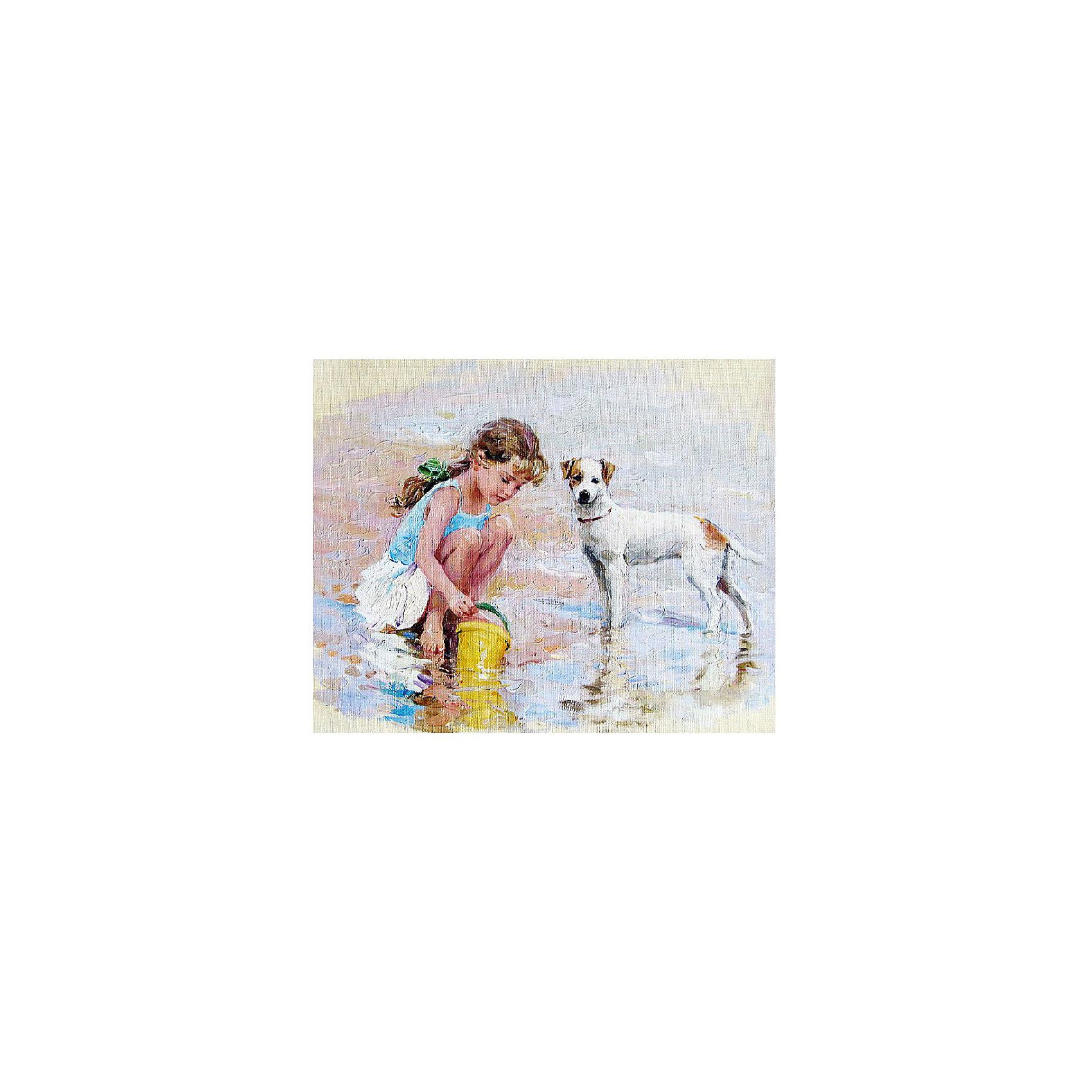 Картина по номерам К. Разумов: Верный друг, 40*50 смРисование<br>Картины с раскраской по номерам размером 40*50. На деревянном подрамнике, с прогрунтованным холстом и  нанесенными контурами картины, с указанием цвета закраски, акриловыми красками, 3 кисточками и креплением на стену. Уровень сложности, количество красок указаны на коробке.<br><br>Ширина мм: 500<br>Глубина мм: 400<br>Высота мм: 40<br>Вес г: 730<br>Возраст от месяцев: 108<br>Возраст до месяцев: 2147483647<br>Пол: Унисекс<br>Возраст: Детский<br>SKU: 5417710