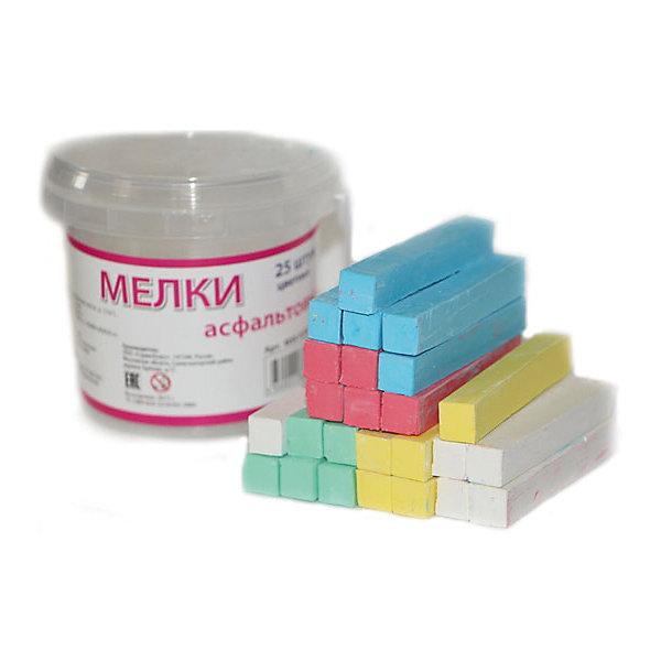 Мелки асфальтовые цветные, 25 штМелки для асфальта<br>Характеристики цветных асфальтных мелков :<br><br>• возраст: от 6 лет<br>• пол: для мальчиков и девочек<br>• материал: картон, пластик, краска.<br>• размер упаковки: 10х10х7 см.<br>• упаковка: картонная коробка.<br>• бред: Molly (Молли)<br>• страна обладатель бренда: Россия<br><br>Цветные мелки российского бренда Molly позволят Вашему малышу проявить свои творческие способности. Рисование мелом – это отличная возможность для самовыражения, а также развития художественных способностей. Фантазия маленького автора ограничена только размером холста, которым может служить как асфальтовая дорожка или школьная доска, так и обычная бумага или ткань. <br><br>Мелки имеют удобные размер и форму, не крошатся, не царапаются и легко счищаются, если попали на одежду. Несколько вариантов мелков, которые представлены в наборе, позволят маленькому художнику создавать разноцветные рисунки с использованием зеленого, голубого, белого, желтого и красного цветов.<br><br>Мелки асфальтовые цветные торговой марки Molly (Молли) можно купить в нашем интернет-магазине.<br>Ширина мм: 100; Глубина мм: 85; Высота мм: 75; Вес г: 300; Возраст от месяцев: 72; Возраст до месяцев: 144; Пол: Унисекс; Возраст: Детский; SKU: 5417722;