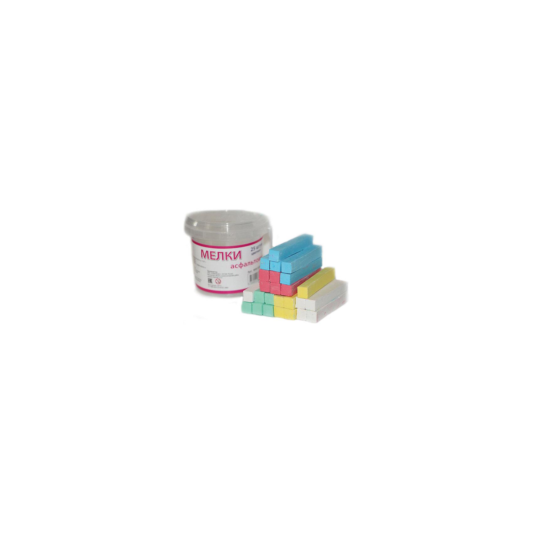 Мелки асфальтовые цветные, 25 штМелки для асфальта<br>Характеристики цветных асфальтных мелков :<br><br>• возраст: от 6 лет<br>• пол: для мальчиков и девочек<br>• материал: картон, пластик, краска.<br>• размер упаковки: 10х10х7 см.<br>• упаковка: картонная коробка.<br>• бред: Molly (Молли)<br>• страна обладатель бренда: Россия<br><br>Цветные мелки российского бренда Molly позволят Вашему малышу проявить свои творческие способности. Рисование мелом – это отличная возможность для самовыражения, а также развития художественных способностей. Фантазия маленького автора ограничена только размером холста, которым может служить как асфальтовая дорожка или школьная доска, так и обычная бумага или ткань. <br><br>Мелки имеют удобные размер и форму, не крошатся, не царапаются и легко счищаются, если попали на одежду. Несколько вариантов мелков, которые представлены в наборе, позволят маленькому художнику создавать разноцветные рисунки с использованием зеленого, голубого, белого, желтого и красного цветов.<br><br>Мелки асфальтовые цветные торговой марки Molly (Молли) можно купить в нашем интернет-магазине.<br><br>Ширина мм: 100<br>Глубина мм: 85<br>Высота мм: 75<br>Вес г: 300<br>Возраст от месяцев: 72<br>Возраст до месяцев: 144<br>Пол: Унисекс<br>Возраст: Детский<br>SKU: 5417722