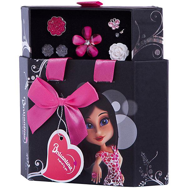Шкатулка (цвет: черный), BriliantinaПоследняя цена<br>Характеристики:<br><br>• Вид игрушек: детская бижутерия<br>• Пол: для девочки<br>• Серия: Hex Box<br>• Материал: металл, пластик<br>• Цвет: серебристый, розовый<br>• Размер кольца: универсальный<br>• Комплектация: 2 кольца серии Uno, 2 кольца серии Excelent, серьги, футляр<br>• Размер упаковки(Д*Ш*В): 15,5*5,5*17 см<br>• Вес: 160 г<br>• Упаковка: футляр <br>• Допускается сухая и влажная чистка<br><br>Шкатулка (цвет: черный), Briliantina из коллекции детской бижутерии, которая создается в рамках творческого проекта совместно с детьми. Торговый бренд принадлежит чешскому производителю Briliantina. Корпус украшений изготавливается из сплава хрома и никеля, который не вызывает аллергии, не окисляется, обладает легким весом, при этом достаточно прочный. В качестве декоративных элементов используются стразы, кристаллы, которые надежно закреплены в изделии. Диаметр колец от Briliantina регулируется. <br><br>Набор состоит из 4 колец и пары сережек, которые сочетаются между собой. Комплект упакован в футляр, в нем предусмотрены дополнительные отделения для других украшений. Использование детской бижутерии научит правильно подбирать украшения в зависимости от выбранного образа, сочетать их между собой, что будет способствовать формированию индивидуального стиля вашей девочки.<br><br>Шкатулка (цвет: черный), Briliantina станет идеальным подарком для девочки к любому празднику.<br><br>Шкатулку (цвет: черный), Briliantina можно купить в нашем интернет-магазине.<br>Ширина мм: 155; Глубина мм: 55; Высота мм: 170; Вес г: 160; Возраст от месяцев: 36; Возраст до месяцев: 84; Пол: Женский; Возраст: Детский; SKU: 5418930;