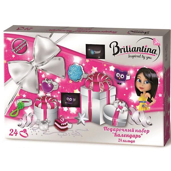 Подарочный набор Календарь - кольца, BriliantinaПоследняя цена<br>Характеристики:<br><br>• Вид игрушек: детская бижутерия<br>• Пол: для девочки<br>• Материал: металл, пластик<br>• Цвет: серебристый, розовый, бирюзовый<br>• Размер кольца: универсальный<br>• Комплектация: 24 кольца<br>• Размер упаковки(Д*Ш*В): 35*3*24 см<br>• Вес: 282 г<br>• Упаковка: картонная коробка <br>• Допускается сухая и влажная чистка<br><br>Подарочный набор Календарь - кольца, Briliantina из коллекции детской бижутерии, которая создается в рамках творческого проекта совместно с детьми. Торговый бренд принадлежит чешскому производителю Briliantina. Корпус украшений изготавливается из сплава хрома и никеля, который не вызывает аллергии, не окисляется, обладает легким весом, при этом достаточно прочный. В качестве декоративных элементов используются стразы, кристаллы, которые надежно закреплены в изделии. Диаметр колец от Briliantina регулируется. <br><br>Набор состоит из 24 отличающихся по стилю, цвету и форме колец. . Использование детской бижутерии научит правильно подбирать украшения в зависимости от выбранного образа, сочетать их между собой, что будет способствовать формированию индивидуального стиля вашей девочки.<br><br>Подарочный набор Календарь - кольца, Briliantina станет идеальным подарком для девочки к любому празднику.<br><br>Подарочный набор Календарь - кольца, Briliantina можно купить в нашем интернет-магазине.<br><br>Ширина мм: 350<br>Глубина мм: 30<br>Высота мм: 240<br>Вес г: 282<br>Возраст от месяцев: 36<br>Возраст до месяцев: 84<br>Пол: Женский<br>Возраст: Детский<br>SKU: 5418933