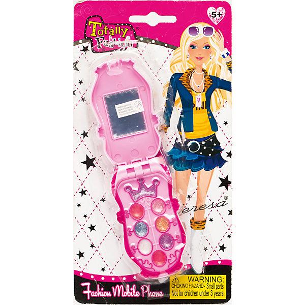 Игровой косметический набор Телефон, Totally FashionНаборы детской косметики<br>Характеристики:<br><br>• Вид игрушек: детская косметика<br>• Пол: для девочки<br>• Материал: пластик, натуральные компоненты и красители<br>• Цвет: оттенки розового, голубой, бежевый и др.<br>• Форма футляра: телефон<br>• Комплектация: <br> блеск для губ – 6 тонов <br> тени для век – 4 тона<br> аппликатор – 1 шт.     <br> кисточка – 1 шт.<br>• Размер упаковки(Д*Ш*В): 12*3,5*23 см<br>• Вес: 62 г<br>• Упаковка: блистер на картонной подложке<br>• Допускается сухая и влажная чистка футляра снаружи<br><br>Игровой косметический набор Телефон, Totally Fashion – это набор от мирового лидера в производстве натуральной и безопасной косметики как для взрослых, так и для детей. Линейка наборов Totally Fashion представляет собой яркие, безопасные и оригинальные косметические наборы для девочек. Используемые в производстве ингредиенты и материалы имеют международные сертификаты безопасности. Декоративные тени и блеск легко смываются теплой водой, не оставляют пятен на одежде и не вызывают раздражение. <br><br>В палитре оттенков имеются самые модные цвета, в комплекте предусмотрен аппликатор с кисточкой, который позволит легко и аккуратно сделать макияж. Косметический набор выполнен в оригинальном виде: телефон-раскладушка, на месте экрана которого предусмотрено зеркальце. <br>Игровой косметический набор Телефон, Totally Fashion станет идеальным подарком для девочки к любому празднику.<br><br>Игровой косметический набор Телефон, Totally Fashion можно купить в нашем интернет-магазине.<br><br>Ширина мм: 120<br>Глубина мм: 35<br>Высота мм: 230<br>Вес г: 62<br>Возраст от месяцев: 60<br>Возраст до месяцев: 120<br>Пол: Женский<br>Возраст: Детский<br>SKU: 5418935