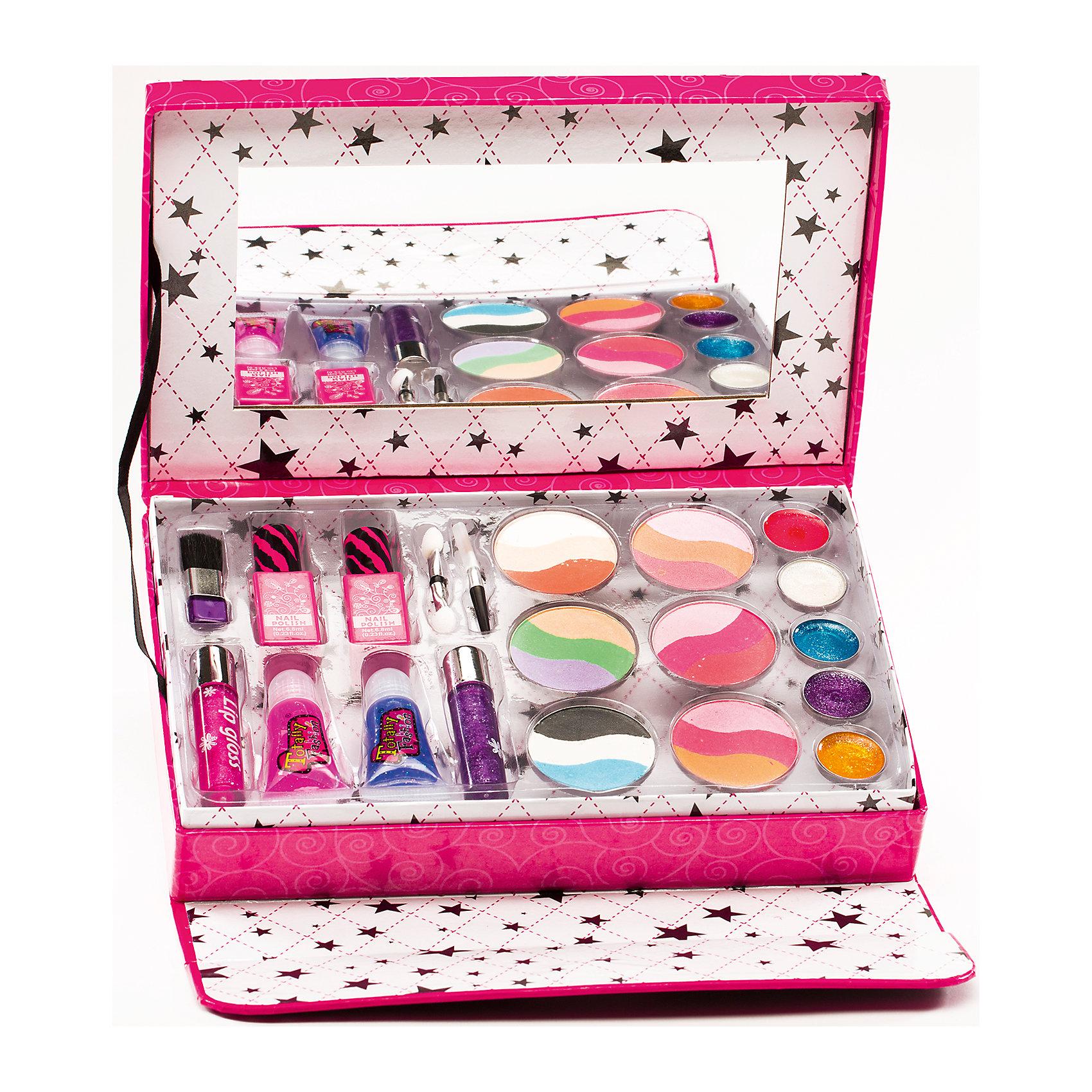 Игровой косметический набор Клатч, Totally FashionХарактеристики:<br><br>• Вид игрушек: детская косметика<br>• Пол: для девочки<br>• Материал: пластик, натуральные компоненты и красители<br>• Цвет: оттенки розового, голубой, бежевый и др.<br>• Форма футляра: прямоугольная<br>• Комплектация: <br> блеск для губ – 7 тонов<br> румяна – 4 тона <br> лак для ногтей – 2 тона <br> аппликатор – 1 шт. <br> кисточка – 1 шт.<br>• Размер упаковки(Д*Ш*В): 22,5*4,5*14,5 см<br>• Вес: 400 г<br>• Упаковка: клатч<br>• Допускается сухая и влажная чистка футляра снаружи<br><br>Игровой косметический набор Клатч, Totally Fashion – это набор от мирового лидера в производстве натуральной и безопасной косметики как для взрослых, так и для детей. Линейка наборов Totally Fashion представляет собой яркие, безопасные и оригинальные косметические наборы для девочек. Используемые в производстве ингредиенты и материалы имеют международные сертификаты безопасности. <br><br>Декоративные румяна и блеск легко смываются теплой водой, не оставляют пятен на одежде и не вызывают раздражение. В палитре оттенков имеются самые модные и стильные оттенки. В наборе предусмотрены две кисточки разных размеров, которые позволят аккуратно нанести макияж. Косметический набор выполнен в оригинальном виде: коробочка-клатч, выполненная в брендовом дизайне, на внутренней стороне крышки которой предусмотрено зеркальце. <br><br>Игровой косметический набор Клатч, Totally Fashion станет идеальным подарком для девочки к любому празднику.<br><br>Игровой косметический набор Клатч, Totally Fashion можно купить в нашем интернет-магазине.<br><br>Ширина мм: 220<br>Глубина мм: 45<br>Высота мм: 145<br>Вес г: 400<br>Возраст от месяцев: 60<br>Возраст до месяцев: 120<br>Пол: Женский<br>Возраст: Детский<br>SKU: 5418939