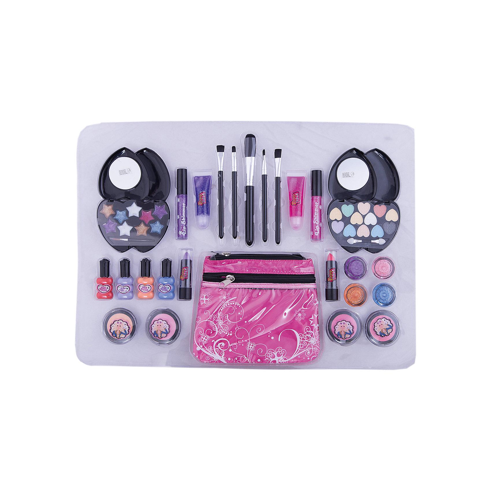 Большой игровой набор с косметичкой, Totally FashionХарактеристики:<br><br>• Вид игрушек: детская косметика<br>• Пол: для девочки<br>• Материал: пластик, натуральные компоненты и красители<br>• Цвет: оттенки розового, голубой, бежевый и др.<br>• Комплектация: <br> блеск для губ – 9 тонов <br> румяна – 4 тона <br> тени для век – 8 тонов <br> помада для губ – 2 тона <br> лак для ногтей – 4 тона <br> кисточка – 5 шт.<br> косметичка – 1 шт.<br>• Размер упаковки (Д*Ш*В): 52*3*37,5 см<br>• Вес: 800 г<br>• Упаковка: картонная коробка с блистером<br><br>Большой игровой набор с косметичкой, Totally Fashion – это набор от мирового лидера в производстве натуральной и безопасной косметики как для взрослых, так и для детей. Линейка наборов Totally Fashion представляет собой яркие, безопасные и оригинальные косметические наборы для девочек. Используемые в производстве ингредиенты и материалы имеют международные сертификаты безопасности. <br><br>Декоративные тени, румяна, блеск и лак для ногтей легко смываются теплой водой, не оставляют пятен на одежде и не вызывают раздражение. В палитре оттенков имеются самые модные и стильные оттенки. В наборе предусмотрены инструменты и аксессуары, которые позволят аккуратно нанести макияж. Дополнительно комплект включает косметичку, выполненную в брендовом дизайне.<br><br>Большой игровой набор с косметичкой, Totally Fashion станет идеальным подарком для девочки к любому празднику.<br><br>Большой игровой набор с косметичкой, Totally Fashion можно купить в нашем интернет-магазине.<br><br>Ширина мм: 520<br>Глубина мм: 30<br>Высота мм: 375<br>Вес г: 800<br>Возраст от месяцев: 60<br>Возраст до месяцев: 120<br>Пол: Женский<br>Возраст: Детский<br>SKU: 5418943