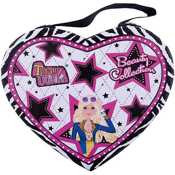 Игровой косметический набор Сердце, Totally FashionНаборы детской косметики<br>Характеристики:<br><br>• Вид игрушек: детская косметика<br>• Пол: для девочки<br>• Материал: пластик, натуральные компоненты и красители<br>• Цвет: оттенки розового, голубой, бежевый, фиолетовый, бирюзовый и др.<br>• Комплектация: <br> блеск для губ – 4 тона <br> румяна – 4 тона <br> тени для век – 7 тонов <br> помада для губ – 3 тона <br> лак для ногтей – 3 тона <br> накладные ногти – 14 шт.<br> аппликатор – 1 шт. <br> кисточка – 2 шт.<br> разделитель для пальцев – 1 шт.<br> зеркальце – 1 шт.<br> стразы – 12 шт.<br>• Размер упаковки (Д*Ш*В): 16,2*7,7*16,5 см<br>• Вес: 335 г<br>• Упаковка: футляр в форме сердца<br><br>Игровой косметический набор Сердце, Totally Fashion – это набор от мирового лидера в производстве натуральной и безопасной косметики как для взрослых, так и для детей. Линейка наборов Totally Fashion представляет собой яркие, безопасные и оригинальные косметические наборы для девочек. Используемые в производстве ингредиенты и материалы имеют международные сертификаты безопасности. <br><br>Декоративные тени, румяна, блеск и лак для ногтей легко смываются теплой водой, не оставляют пятен на одежде и не вызывают раздражение. В палитре оттенков имеются самые модные и стильные оттенки. В наборе предусмотрены инструменты и аксессуары, которые позволят аккуратно нанести макияж и сделать маникюр. Комплект включает в себя декоративные ногти и стразы для создания праздничного маникюра. Футляр для декоративной косметики выполнен в виде сердца с брендовым дизайном.<br><br>Игровой косметический набор Сердце, Totally Fashion станет идеальным подарком для девочки к любому празднику.<br><br>Игровой косметический набор Сердце, Totally Fashion можно купить в нашем интернет-магазине.<br><br>Ширина мм: 162<br>Глубина мм: 77<br>Высота мм: 165<br>Вес г: 335<br>Возраст от месяцев: 60<br>Возраст до месяцев: 120<br>Пол: Женский<br>Возраст: Детский<br>SKU: 5418945
