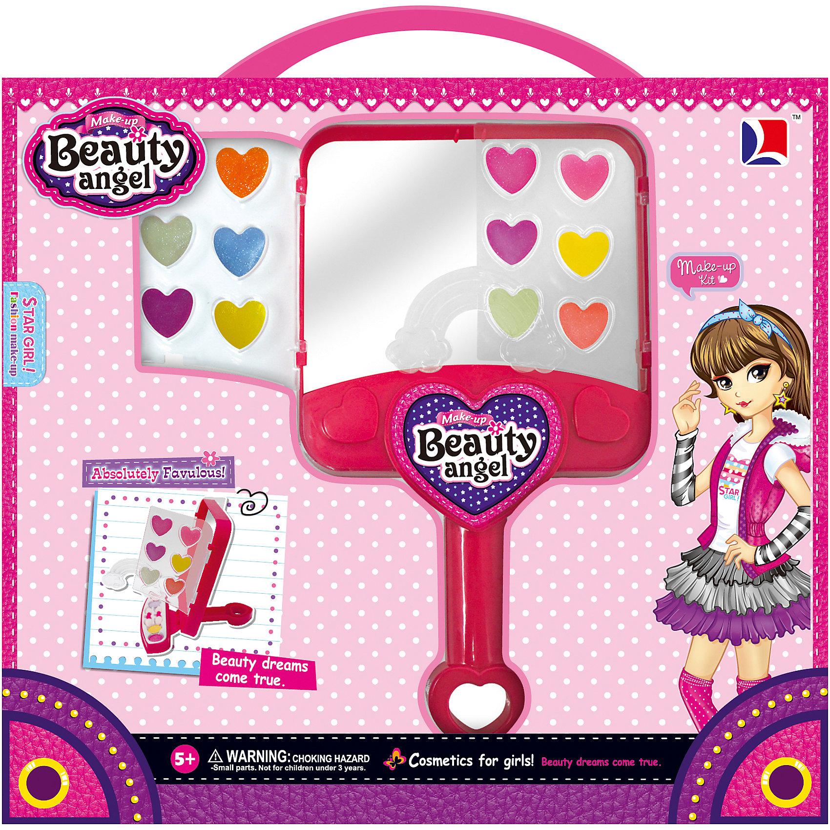 Игровой косметический набор Зеркало, Beauty AngelКосметика, грим и парфюмерия<br>Характеристики:<br><br>• Вид игрушек: детская косметика<br>• Пол: для девочки<br>• Материал: пластик, натуральные компоненты и красители<br>• Цвет: оттенки розового, голубой, желтый, зеленый, оранжевый и др.<br>• Комплектация: <br> блеск для губ – 12 тонов <br> кисточка – 2 шт.<br>• Форма футляра: зеркало с ручкой<br>• Размер упаковки (Д*Ш*В): 27,4*3*30 см<br>• Вес: 278 г<br>• Упаковка: картонная коробка с блистером<br><br>Игровой косметический набор Зеркало, Beauty Angel от всемирно известного торгового бренда Dileny, который занимается разработкой, дизайном и выпуском детской декоративной косметики с учетом модных и стильных тенденций мира моды. Линейка наборов Beauty Angel представляет собой косметические наборы в состав которых входят как матовые, так и перламутровые оттенки, аксессуары и инструменты для нанесения макияжа. <br><br>Декоративная косметика от Dileny легко наносится, ложится ровным слоем, не осыпается и легко смывается либо теплой водой, либо детским косметическим маслом. Косметика обладает повышенными гипоаллергенными свойствами и легким ароматом. Игровой косметический набор Зеркало, Beauty Angel состоит из 12 оттенков блеска для губ и кисточек для их нанесения. Футляр выполнен в форме зекрала с ручкой.<br><br>Игровой косметический набор Зеркало, Beauty Angel станет идеальным подарком для девочки к любому празднику.<br><br>Игровой косметический набор Зеркало, Beauty Angel можно купить в нашем интернет-магазине.<br><br>Ширина мм: 274<br>Глубина мм: 30<br>Высота мм: 300<br>Вес г: 278<br>Возраст от месяцев: 60<br>Возраст до месяцев: 120<br>Пол: Женский<br>Возраст: Детский<br>SKU: 5418950