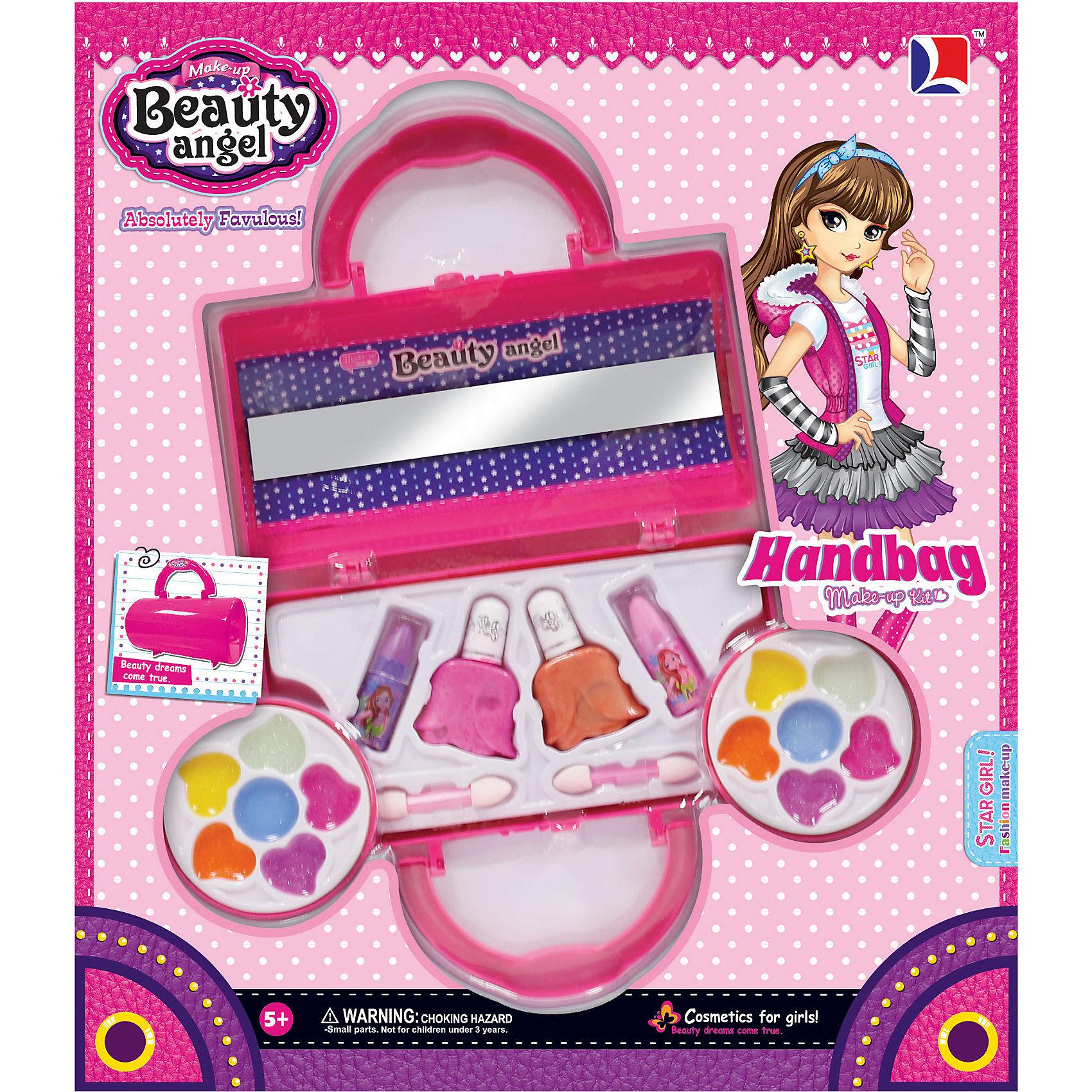 Игровой косметический набор Клатч, Beauty AngelКосметика, грим и парфюмерия<br>Характеристики:<br><br>• Вид игрушек: детская косметика<br>• Пол: для девочки<br>• Материал: пластик, натуральные компоненты и красители<br>• Цвет: оттенки розового, голубой, желтый, зеленый, оранжевый и др.<br>• Комплектация: <br> блеск для губ – 12 тонов<br> губная помада – 2 тона<br> лак для ногтей – 2 тона<br> кисточка – 2 шт.<br>• Форма футляра: клатч<br>• Размер упаковки (Д*Ш*В): 33,5*6*29 см<br>• Вес: 348 г<br>• Упаковка: картонная коробка с блистером<br><br>Игровой косметический набор Клатч, Beauty Angel от всемирно известного торгового бренда Dileny, который занимается разработкой, дизайном и выпуском детской декоративной косметики с учетом модных и стильных тенденций мира моды. Линейка наборов Beauty Angel представляет собой косметические наборы в состав которых входят как матовые, так и перламутровые оттенки, аксессуары и инструменты для нанесения макияжа. <br><br>Декоративная косметика от Dileny легко наносится, ложится ровным слоем, не осыпается и легко смывается либо теплой водой, либо детским косметическим маслом. Косметика обладает повышенными гипоаллергенными свойствами и легким ароматом. Игровой косметический набор Клатч, Beauty Angel состоит из 12 оттенков блеска для губ, 2 оттенков губной помады, лака для ногтей и кисточек. Футляр выполнен в форме клатча.<br><br>Игровой косметический набор Клатч, Beauty Angel станет идеальным подарком для девочки к любому празднику.<br><br>Игровой косметический набор Клатч, Beauty Angel можно купить в нашем интернет-магазине.<br><br>Ширина мм: 335<br>Глубина мм: 60<br>Высота мм: 290<br>Вес г: 348<br>Возраст от месяцев: 60<br>Возраст до месяцев: 120<br>Пол: Женский<br>Возраст: Детский<br>SKU: 5418955