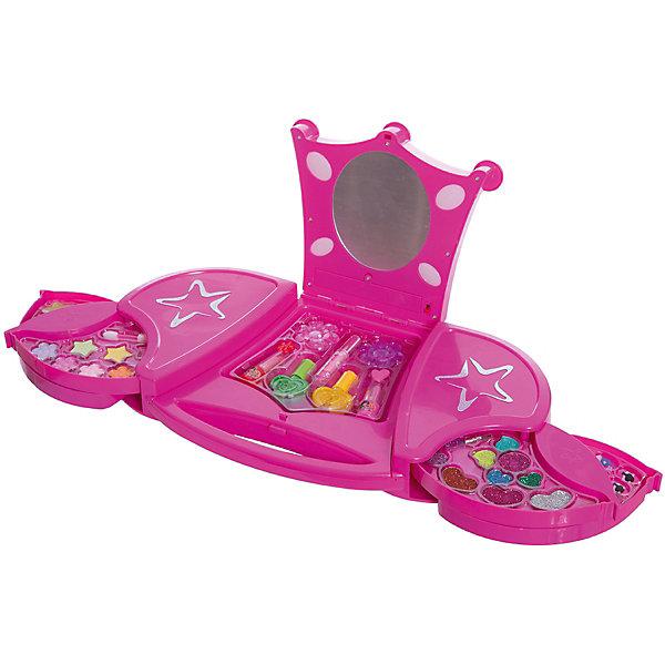 Большой Игровой косметический набор Звездный чемоданчик с подсветкой, Beauty AngelНаборы детской косметики<br>Характеристики:<br><br>• Вид игрушек: детская косметика<br>• Пол: для девочки<br>• Материал: пластик, натуральные компоненты и красители<br>• Цвет: оттенки розового, голубой, желтый, зеленый, оранжевый и др.<br>• Комплектация: <br> тени для век – 12 тонов<br> блеск для губ – 3 тона<br> губная помада – 2 тона<br> лак для ногтей – 2 тона<br> накладные ногти – 12 шт.<br> кисточка – 2 шт.<br> заколка для волос – 2 шт. <br>• Форма футляра: туалетный столик<br>• У зеркала предусмотрена подстветка<br>• Батарейки: 2 шт. типа АА (в комплекте не предусмотрены)<br>• Размер упаковки (Д*Ш*В): 23,5*6*41,5 см<br>• Вес: 980 г<br>• Упаковка: картонная коробка с блистером<br><br>Большой Игровой косметический набор Звездный чемоданчик с подсветкой, Beauty Angel от всемирно известного торгового бренда Dileny, который занимается разработкой, дизайном и выпуском детской декоративной косметики с учетом модных и стильных тенденций мира моды. Линейка наборов Beauty Angel представляет собой косметические наборы в состав которых входят как матовые, так и перламутровые оттенки, аксессуары и инструменты для нанесения макияжа. <br><br>Декоративная косметика от Dileny легко наносится, ложится ровным слоем, не осыпается и легко смывается либо теплой водой, либо детским косметическим маслом. Косметика обладает повышенными гипоаллергенными свойствами и легким ароматом. Большой Игровой косметический набор Звездный чемоданчик с подсветкой, Beauty Angel состоит из 12 оттенков теней для век, блеска для губ, губной помады, лака для ногтей, накладных ногтей, заколок и кисточек. Футляр выполнен в виде туалетного столика с зеркалом. У зеркала предусмотрена подстветка.<br><br>Большой Игровой косметический набор Звездный чемоданчик с подсветкой, Beauty Angel станет идеальным подарком для девочки к любому празднику.<br><br>Большой Игровой косметический набор Звездный чемоданчик с подсветкой, Beauty Ang