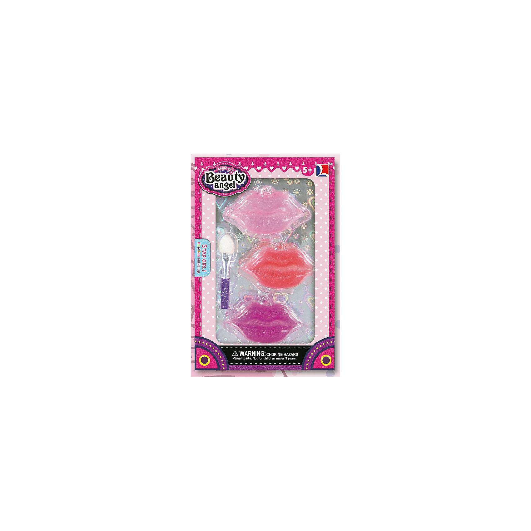 Игровой мини-набор Губы, Beauty AngelКосметика, грим и парфюмерия<br>Характеристики:<br><br>• Вид игрушек: детская косметика<br>• Пол: для девочки<br>• Материал: пластик, натуральные компоненты и красители<br>• Цвет: розовый, красный, фиолетовый<br>• Комплектация: <br> блеск для губ – 3 тона<br> кисточка – 1 шт.<br>• Форма футляра: губы<br>• Размер упаковки (Д*Ш*В): 8,1*2*12 см<br>• Вес: 38 г<br>• Упаковка: картонная коробка с блистером<br><br>Игровой мини-набор Губы, Beauty Angel от всемирно известного торгового бренда Dileny, который занимается разработкой, дизайном и выпуском детской декоративной косметики с учетом модных и стильных тенденций мира моды. Линейка наборов Beauty Angel представляет собой косметические наборы в состав которых входят как матовые, так и перламутровые оттенки, аксессуары и инструменты для нанесения макияжа. <br><br>Декоративная косметика от Dileny легко наносится, ложится ровным слоем, не осыпается и легко смывается либо теплой водой, либо детским косметическим маслом. Косметика обладает повышенными гипоаллергенными свойствами и легким ароматом. Игровой мини-набор Губы, Beauty Angel состоит из блеска для губ и кисточки. Футляр блеска для губ выполнен в форме губ.<br><br>Игровой мини-набор Губы, Beauty Angel станет идеальным подарком для девочки к любому празднику.<br><br>Игровой мини-набор Губы, Beauty Angel можно купить в нашем интернет-магазине.<br><br>Ширина мм: 81<br>Глубина мм: 20<br>Высота мм: 120<br>Вес г: 38<br>Возраст от месяцев: 60<br>Возраст до месяцев: 120<br>Пол: Женский<br>Возраст: Детский<br>SKU: 5418968