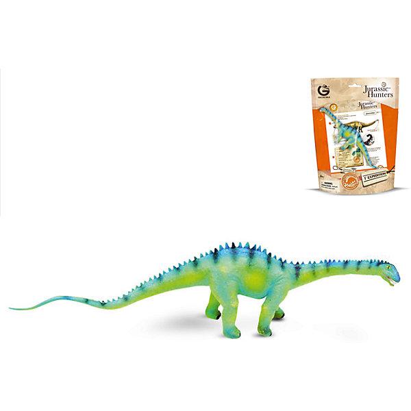 Динозавр Диплодок, коллекция Jurassic Hunters, GeoworldМир животных<br>Характеристики товара:<br><br>• материал: пластик<br>• возраст: от 4 лет<br>• длина игрушки: 27 см<br>• масштаб: 1:110<br>• в комплекте: фигурка динозавра, страница с научной информацией о динозавре, мини-буклет с указанием полной коллекции Jurassic Hunters (Охотников за Динозаврами)<br>• габариты упаковки: 27х21х8 см<br>• вес: 100 г<br>• страна бренда: Италия<br><br>Детализированная фигурка отлично впишется в коллекцию динозавров юного палеонтолога. Уникальный дизайн, проработанные мелкие детали и художественное исполнение сделали игрушку очень реалистичной и перенесли ее в раздел коллекционных моделей. Материалы, использованные при изготовлении товаров, проходят проверку на качество и соответствие международным требованиям по безопасности.<br>Такие фигурки помогают привить детям любовь к учебе, развить воображение и интерес к коллекционированию.<br><br>Динозавр Диплодок, коллекция Jurassic Hunter, от бренда Geoworld можно купить в нашем интернет-магазине.<br><br>Ширина мм: 210<br>Глубина мм: 80<br>Высота мм: 270<br>Вес г: 111<br>Возраст от месяцев: 48<br>Возраст до месяцев: 108<br>Пол: Унисекс<br>Возраст: Детский<br>SKU: 5418994