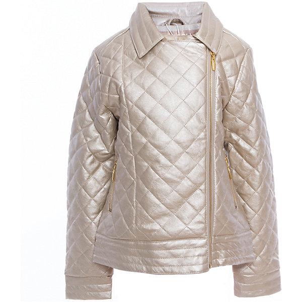 Куртка текстильная для девочек ScoolВерхняя одежда<br>Куртка текстильная для девочек Scool<br>Куртка с имитацией стежки.<br><br>– Застегивается на стильную косую молнию.<br>– Классический отложной воротник.<br>– Гладкая подкладка таффета.<br>– Два функциональных кармана на молнии.<br>Состав:<br>Верх: 40% полиуретан, 30% вискоза, 30% полиэстер, подкладка: 100% полиэстер, наполнитель - 100% полиэстер, 100 г/м2<br>Ширина мм: 356; Глубина мм: 10; Высота мм: 245; Вес г: 519; Цвет: золотой; Возраст от месяцев: 156; Возраст до месяцев: 168; Пол: Женский; Возраст: Детский; Размер: 164,134,140,146,152,158; SKU: 5419010;