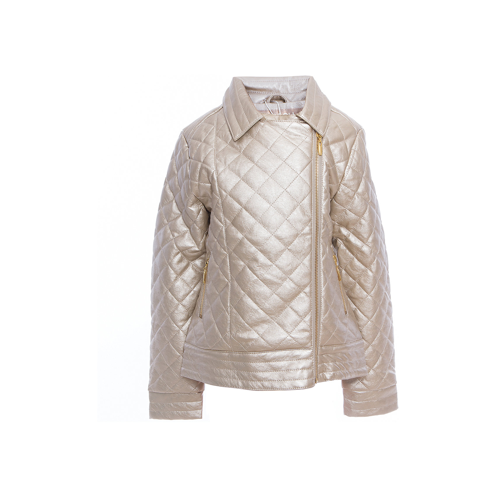 Куртка текстильная для девочек ScoolВерхняя одежда<br>Куртка текстильная для девочек Scool<br>Куртка с имитацией стежки.<br><br>– Застегивается на стильную косую молнию.<br>– Классический отложной воротник.<br>– Гладкая подкладка таффета.<br>– Два функциональных кармана на молнии.<br>Состав:<br>Верх: 40% полиуретан, 30% вискоза, 30% полиэстер, подкладка: 100% полиэстер, наполнитель - 100% полиэстер, 100 г/м2<br><br>Ширина мм: 356<br>Глубина мм: 10<br>Высота мм: 245<br>Вес г: 519<br>Цвет: золотой<br>Возраст от месяцев: 156<br>Возраст до месяцев: 168<br>Пол: Женский<br>Возраст: Детский<br>Размер: 164,134,140,146,152,158<br>SKU: 5419010