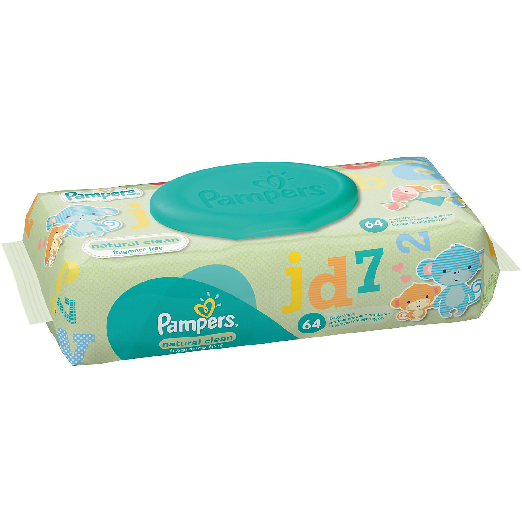 Салфетки детские влажные Pampers  Natural Clean, 64 шт., Pampers