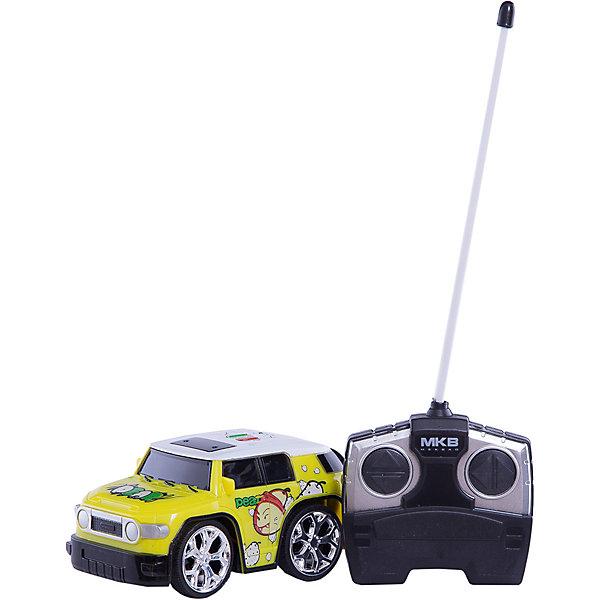 Машинка на радиоуправлении Mini, желтая, Blue SeaРадиоуправляемые машины<br>Машинка на радиоуправлении Mini, салатовая, Blue Sea (Блу Сии).<br><br>Характеристики:<br><br>- Цвет: желтый.<br>- Состав: пластик, металл.<br>- Радиоуправляемая игрушка.<br>- В комплекте: машинка, пульт управления.<br><br>Внимание: элементы питания в комплект не входят!<br><br>Машинка на радиоуправлении Mini, желтый – это один из представителей яркой серии машинок Mini Car от бренда Blue Sea (Блу Сии). Она проста в управлении, двигается вперед, назад, влево и вправо. Для того, чтобы начать играть, достаточно просто докупить элементы питания для машинки и пульта управления. Вашему малышу обязательно понравятся простота управления и необычный дизайн в виде яркого внедорожника.<br><br>Машинку на радиоуправлении Mini, салатовую, Blue Sea(Блу Сии), можно купить в нашем интернет – магазине.<br>Ширина мм: 210; Глубина мм: 110; Высота мм: 110; Вес г: 300; Возраст от месяцев: 36; Возраст до месяцев: 2147483647; Пол: Мужской; Возраст: Детский; SKU: 5419372;