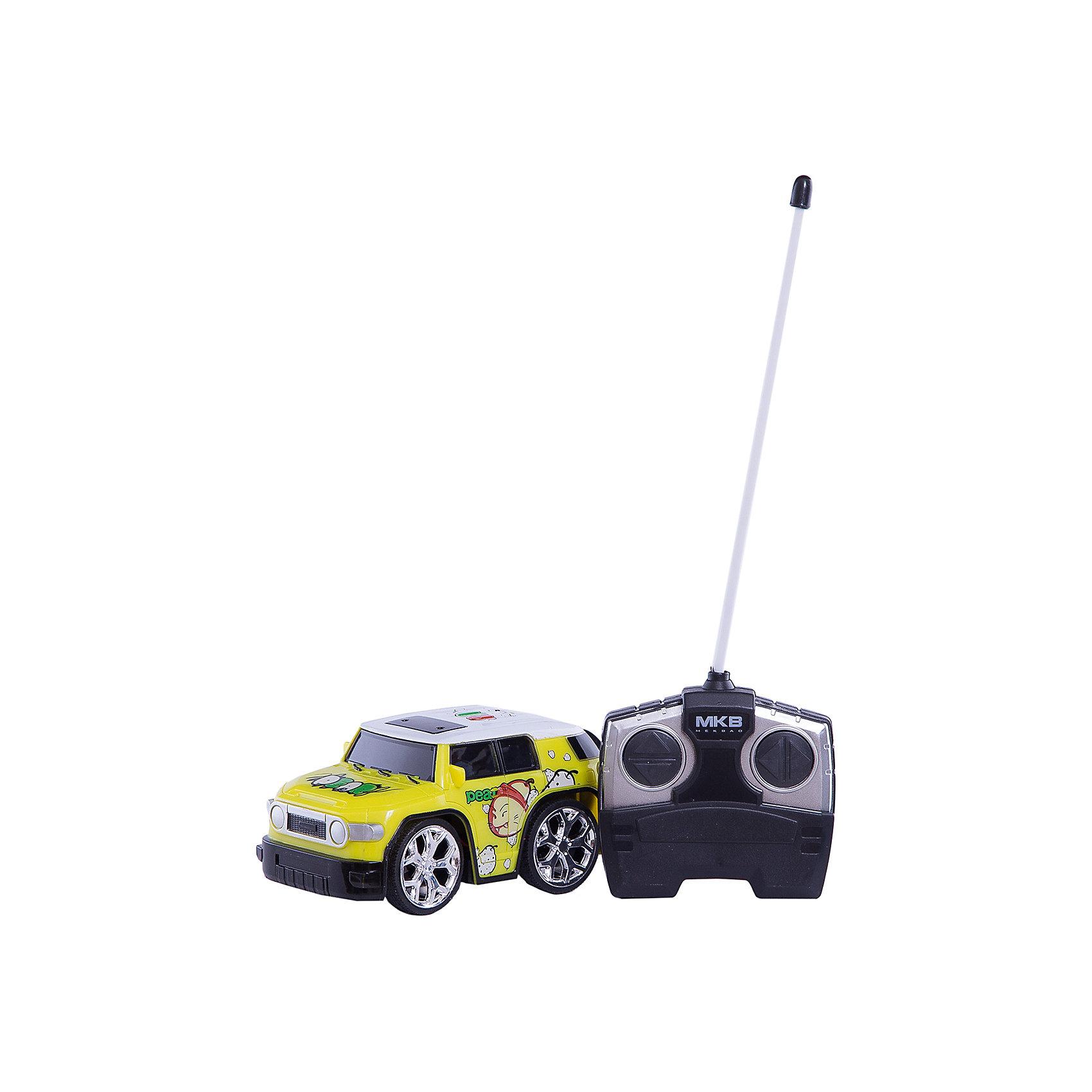Машинка на радиоуправлении Mini, желтая, Blue SeaРадиоуправляемый транспорт<br>Машинка на радиоуправлении Mini, салатовая, Blue Sea (Блу Сии).<br><br>Характеристики:<br><br>- Цвет: желтый.<br>- Состав: пластик, металл.<br>- Радиоуправляемая игрушка.<br>- В комплекте: машинка, пульт управления.<br><br>Внимание: элементы питания в комплект не входят!<br><br>Машинка на радиоуправлении Mini, желтый – это один из представителей яркой серии машинок Mini Car от бренда Blue Sea (Блу Сии). Она проста в управлении, двигается вперед, назад, влево и вправо. Для того, чтобы начать играть, достаточно просто докупить элементы питания для машинки и пульта управления. Вашему малышу обязательно понравятся простота управления и необычный дизайн в виде яркого внедорожника.<br><br>Машинку на радиоуправлении Mini, салатовую, Blue Sea(Блу Сии), можно купить в нашем интернет – магазине.<br><br>Ширина мм: 210<br>Глубина мм: 110<br>Высота мм: 110<br>Вес г: 300<br>Возраст от месяцев: 36<br>Возраст до месяцев: 2147483647<br>Пол: Мужской<br>Возраст: Детский<br>SKU: 5419372