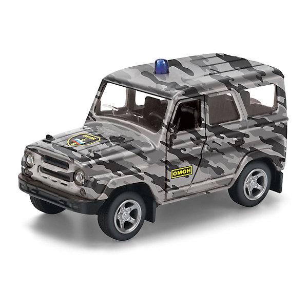 Машина  УАЗ HUNTER ОМОН, ТЕХНОПАРКМашинки<br>Характеристики:<br><br>• тип игрушки: машина;<br>• возраст: от 3 лет;<br>• размер: 6х15х13 см;<br>• цвет: серый;<br>• материал: металл, пластик;<br>• бренд: Технопарк;<br>• страна производителя: Китай.<br><br>Машина Технопарк «УАЗ HUNTER ОМОН» - это инерционная модель с открывающими дверями, которая обязательно понравиться малышу. Играть с ней просто удовольствие, а так же машинка может войти в коллекцию мальчика.<br><br>Тематические игры с интересными сюжетами разбудят воображение ребёнка, а манипуляции с игрушкой потренируют мелкую моторику пальцев рук. Масштабные модели от компании «Технопарк» отличаются качественными ударопрочными материалами, продлевающими долговечность изделия тщательным исполнением со вниманием ко всем деталям, и имеют требуемые сертификаты соответствия для детских игрушек.<br><br>Машину Технопарк  «УАЗ HUNTER ОМОН» можно купить в нашем интернет-магазине.<br>Ширина мм: 60; Глубина мм: 130; Высота мм: 150; Вес г: 120; Возраст от месяцев: 36; Возраст до месяцев: 84; Пол: Мужской; Возраст: Детский; SKU: 5420334;