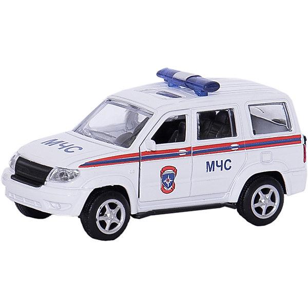 Машина УАЗ Патриот МЧС, ТЕХНОПАРКМашинки<br>Характеристики:<br><br>• тип игрушки: машина;<br>• возраст: от 3 лет;<br>• размер: 15х13х6 см;<br>• цвет: серый;<br>• материал: металл, пластик;<br>• бренд: Технопарк;<br>• страна производителя: Китай.<br><br>Машина Технопарк «УАЗ Патриот МЧС»  позволит малышу почувствовать себя настоящим спасателем. Модель обладает высокой реалистичностью благодаря открывающимся и закрывающимся передним дверям. Машинка оборудована инерционным механизмом, который позволяет ей проезжать небольшое расстояние самостоятельно, без использования элементов питания. Корпус автомобиля изготовлен из металла. Ребенок придумает множество игр с таким замечательным функциональным авто. <br><br>Тематические игры с интересными сюжетами разбудят воображение ребёнка, а манипуляции с игрушкой потренируют мелкую моторику пальцев рук. Масштабные модели от компании «Технопарк» отличаются качественными ударопрочными материалами, продлевающими долговечность изделия тщательным исполнением со вниманием ко всем деталям, и имеют требуемые сертификаты соответствия для детских игрушек.<br><br>Машину Технопарк  «УАЗ Патриот МЧС» можно купить в нашем интернет-магазине.<br>Ширина мм: 60; Глубина мм: 130; Высота мм: 150; Вес г: 120; Возраст от месяцев: 36; Возраст до месяцев: 84; Пол: Мужской; Возраст: Детский; SKU: 5420350;