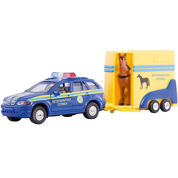 Машина Ветеринарная служба с фургоном и лошадкой, ТЕХНОПАРКМашинки<br>Машина Технопарк металлическая инерционная. Ветеринарная служба с фургоном и лошадкой.<br><br>Ширина мм: 70<br>Глубина мм: 160<br>Высота мм: 310<br>Вес г: 470<br>Возраст от месяцев: 36<br>Возраст до месяцев: 84<br>Пол: Мужской<br>Возраст: Детский<br>SKU: 5420362