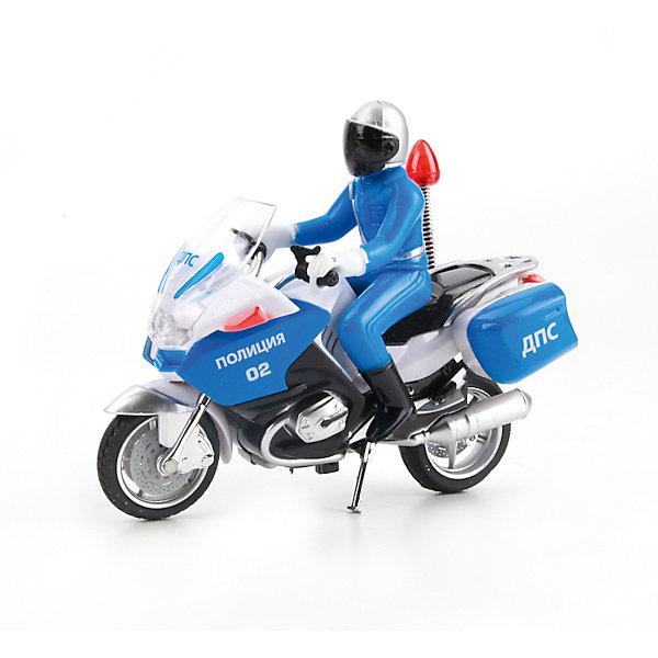 Мотоцикл , с фигуркой, свет+звук, ТЕХНОПАРКМашинки<br>Характеристики:<br><br>• тип игрушки: мотоцикл;<br>• возраст: от 3 лет;<br>• размер: 7х19х18 см;<br>• цвет: синий;<br>• материал: металл, пластик;<br>• бренд: Технопарк;<br>• страна производителя: Китай.<br><br>Технопарк «Мотоцикл» выполнен в реалистичном ключе с высокой детализацией. Такой мотоцикл может быть использован в сюжетной игре или стать частью коллекции и занять место на полочке. Кроме того, игрушка обладает световыми и звуковыми эффектами: если нажать на кнопочку на корпусе мотоцикла, игрушка будет воспроизводить звуки, а лампочка на антенне будет светиться. <br><br>Тематические игры с интересными сюжетами разбудят воображение ребёнка, а манипуляции с игрушкой потренируют мелкую моторику пальцев рук. Масштабные модели от компании «Технопарк» отличаются качественными ударопрочными материалами, продлевающими долговечность изделия тщательным исполнением со вниманием ко всем деталям, и имеют требуемые сертификаты соответствия для детских игрушек.<br><br>Технопарк «Мотоцикл» можно купить в нашем интернет-магазине.<br>Ширина мм: 70; Глубина мм: 180; Высота мм: 190; Вес г: 250; Возраст от месяцев: 36; Возраст до месяцев: 84; Пол: Мужской; Возраст: Детский; SKU: 5420372;