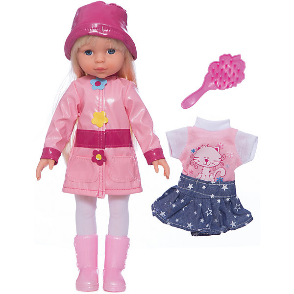 Кукла, с аксессуарами, в осенне-весенней одежде, 33 см, со звуком, КарапузКуклы<br>Кукла 33 см. в осенней одежде. С дополнительным комплектом одежды. Кукла рассказывает 4 стихотворения и поет 4 песенки. В комплект входит расческа.<br>Ширина мм: 90; Глубина мм: 350; Высота мм: 230; Вес г: 590; Возраст от месяцев: 36; Возраст до месяцев: 84; Пол: Женский; Возраст: Детский; SKU: 5420410;
