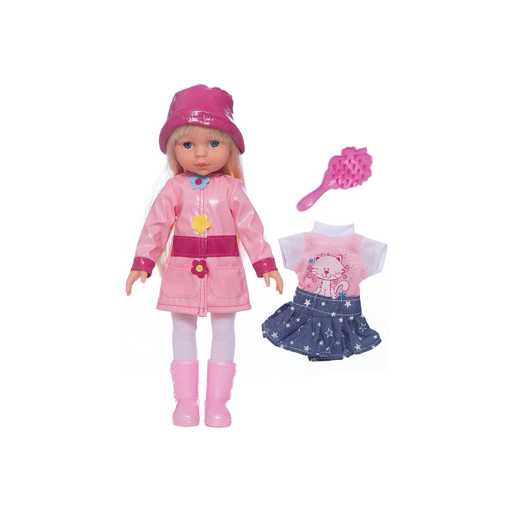Кукла, с аксессуарами, в осенне-весенней одежде, 33 см, со звуком, КарапузБренды кукол<br>Кукла 33 см. в осенней одежде. С дополнительным комплектом одежды. Кукла рассказывает 4 стихотворения и поет 4 песенки. В комплект входит расческа.<br><br>Ширина мм: 90<br>Глубина мм: 350<br>Высота мм: 230<br>Вес г: 590<br>Возраст от месяцев: 36<br>Возраст до месяцев: 84<br>Пол: Женский<br>Возраст: Детский<br>SKU: 5420410