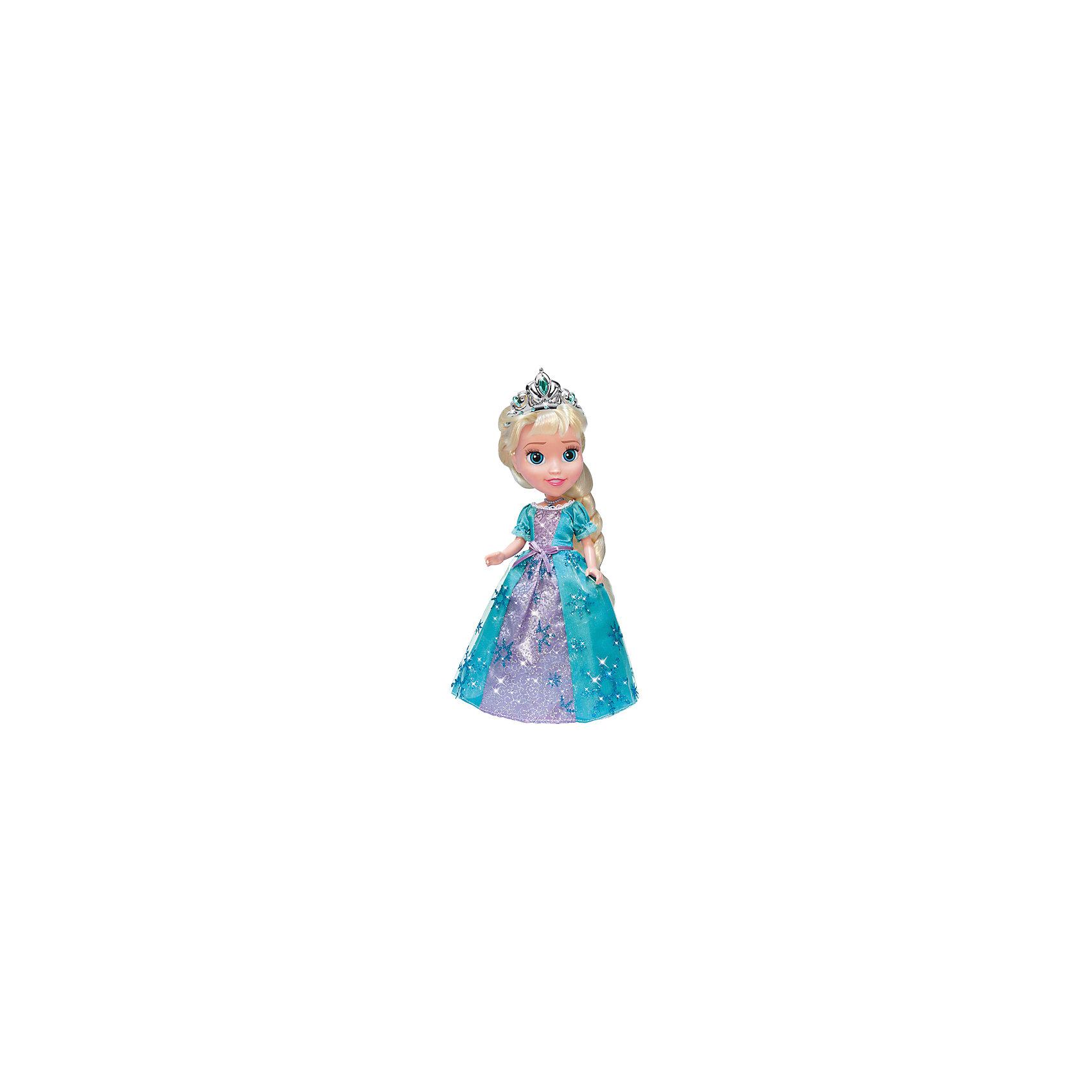 Кукла Эльза со светящимся амулетом, 25см, со звуком, Холодное сердце, КарапузБренды кукол<br>Кукла  Эльза, герой любимого мультфильма DISNEY 25  см. Кукла поет песенку из мультфильма . В комплект входят заколочки для волос.<br><br>Ширина мм: 90<br>Глубина мм: 170<br>Высота мм: 300<br>Вес г: 400<br>Возраст от месяцев: 36<br>Возраст до месяцев: 84<br>Пол: Женский<br>Возраст: Детский<br>SKU: 5420411