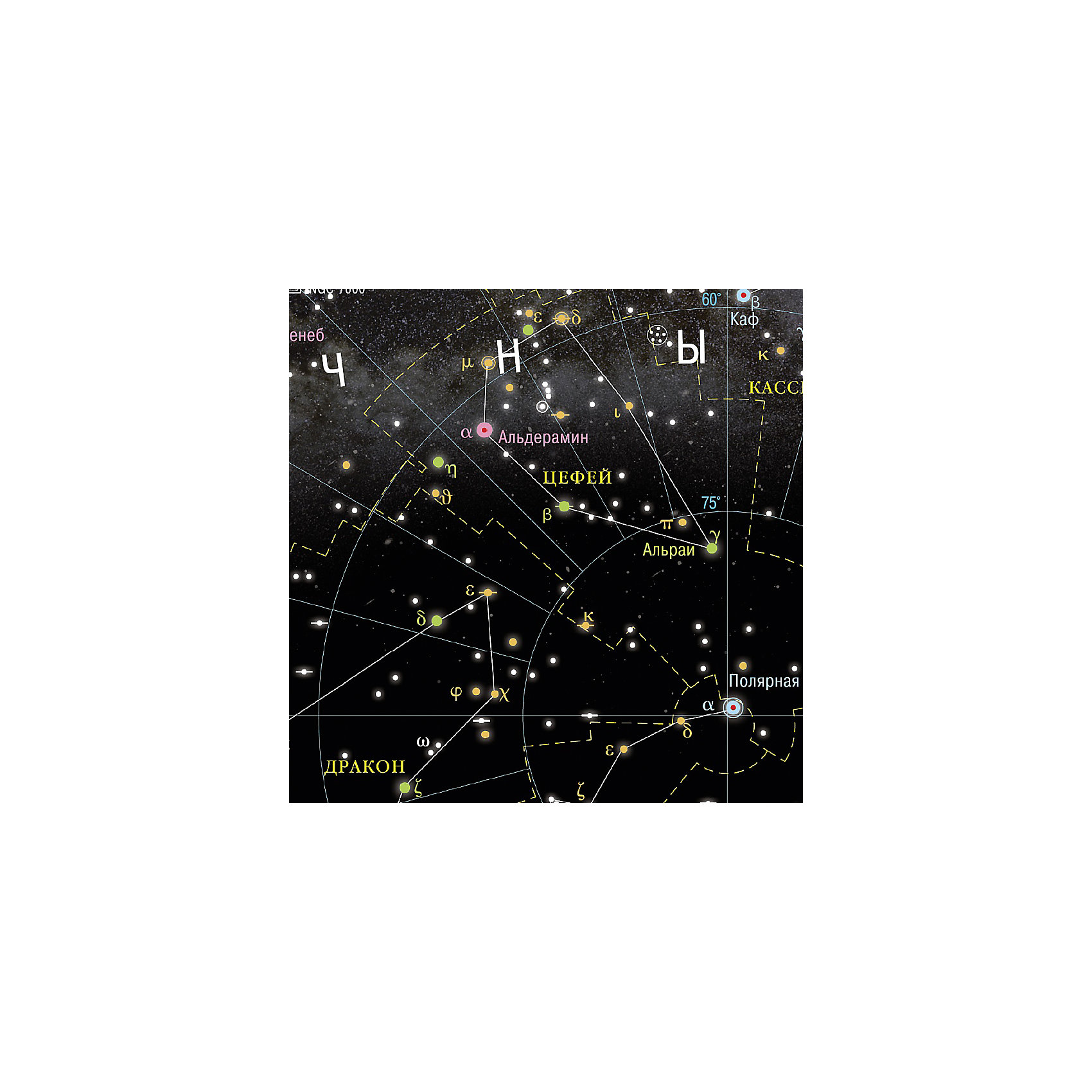 """Настенная карта """"Звездное небо, планеты"""" 124*80 см, ламинированная от myToys"""