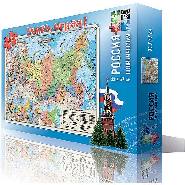 Карта-пазл Россия политическая 33*47 см, М 1:14,5 млн, 260 деталейПазлы классические<br>Характеристики товара:<br><br>• материал: ламинированный картон<br>• возраст: от 6 лет<br>• количество деталей: 260<br>• габариты упаковки: 29х19х4 см<br>• размер карты: 33х47 см<br>• вес: 250 г<br>• страна производитель: Россия<br><br>Ваш ребенок в процессе игры с большим интересом изучит политико-административное устройство государства, границы федеральных округов и субъектов и основные крупные города. Узнает какими водами омывается и с какими государствами граничит наша Родина. Дана новая карта часовых поясов России.Это отличный метод познакомиться с особенностями географии уже с малого возраста. Играя, ребенок развивает воображение, пространственное мышление, внимание, память и способность анализировать!<br><br>Карту-пазл Россия политическая 33*47 см, 260 деталей, можно купить в нашем интернет-магазине.<br><br>Ширина мм: 290<br>Глубина мм: 190<br>Высота мм: 35<br>Вес г: 250<br>Возраст от месяцев: 72<br>Возраст до месяцев: 108<br>Пол: Унисекс<br>Возраст: Детский<br>SKU: 5422958