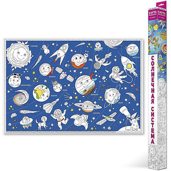 Карта-Раскраска Солнечная система 101*69 смРаскраски по номерам<br>Карта-Раскраска Солнечная система 101*69 см<br><br>Характеристики:<br><br>• В набор входит: раскраска в коробке<br>• Размер раскраски: 101 * 69 см.<br>• Состав: бумага, картон<br>• Вес: 110 г.<br>• Для детей в возрасте: от 3 до 7 лет<br>• Страна производитель: Россия<br><br>Благодаря значительному количеству планет, маленьких звездочек спутников и космонавтов ребёнок может полностью использовать своё воображение и подбирать цвета как ему будет угодно. Особенно интересно будет раскрашивать картинки карандашами или фломастерами с большим количеством оттенков, хотя, как показано на образце, можно и ограничиться стандартным набором из 12ти цветов. Играя с раскрасками дети развивают моторику рук и готовят руку к письму, развивая творческие способности, учась подбирать цветовую гамму. Дети запоминают формы, учатся как правильно рисовать те или иные вещи, улучшают внимание и концентрацию.<br><br>Карту-Раскраску Солнечная система 101*69 см. можно купить в нашем интернет-магазине.<br>Ширина мм: 1010; Глубина мм: 690; Высота мм: 1; Вес г: 110; Возраст от месяцев: 36; Возраст до месяцев: 108; Пол: Унисекс; Возраст: Детский; SKU: 5423010;