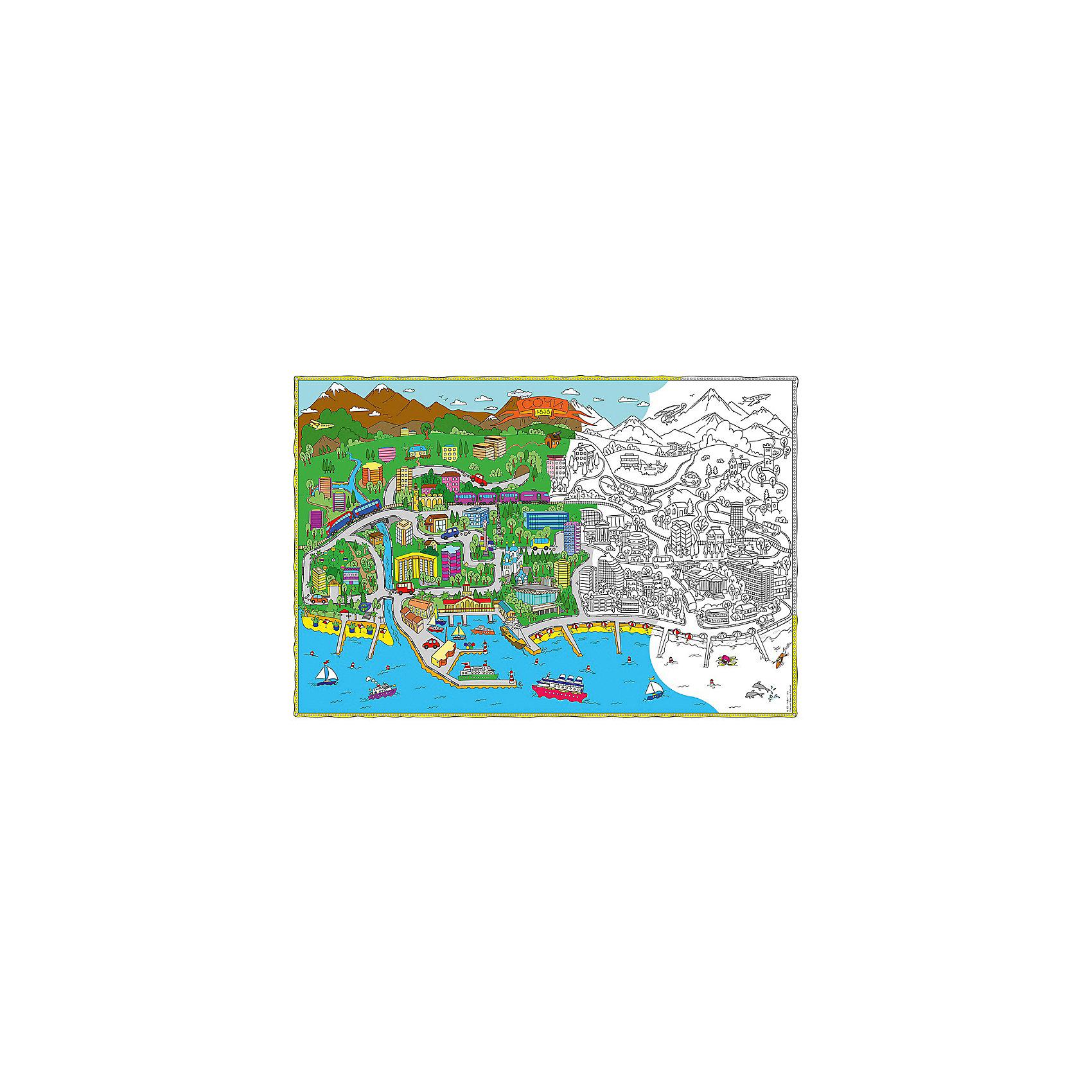 Карта-Раскраска Сочи 101*69 смРисование<br>Карта-Раскраска Сочи 101*69 см.<br><br>Характеристики:<br><br>• В набор входит: раскраска в коробке<br>• Размер раскраски: 101 * 69 см.<br>• Состав: бумага, картон<br>• Вес: 110 г.<br>• Для детей в возрасте: от 6 до 12 лет<br>• Страна производитель: Россия<br><br>Благодаря значительному разнообразию строений, растительности и транспорта ребёнок может полностью использовать своё воображение и подбирать цвета как ему будет угодно. Особенно интересно будет раскрашивать картинки карандашами или фломастерами с большим количеством оттенков, хотя, как показано на образце, можно и ограничиться стандартным набором из 12ти цветов. Играя с раскрасками дети развивают моторику рук и готовят руку к письму, развивая творческие способности, учась подбирать цветовую гамму. Дети запоминают формы, учатся как правильно рисовать те или иные вещи, улучшают внимание и концентрацию.<br><br>Карту-Раскраску Сочи 101*69 см. можно купить в нашем интернет-магазине.<br><br>Ширина мм: 1010<br>Глубина мм: 690<br>Высота мм: 1<br>Вес г: 110<br>Возраст от месяцев: 72<br>Возраст до месяцев: 108<br>Пол: Унисекс<br>Возраст: Детский<br>SKU: 5423011