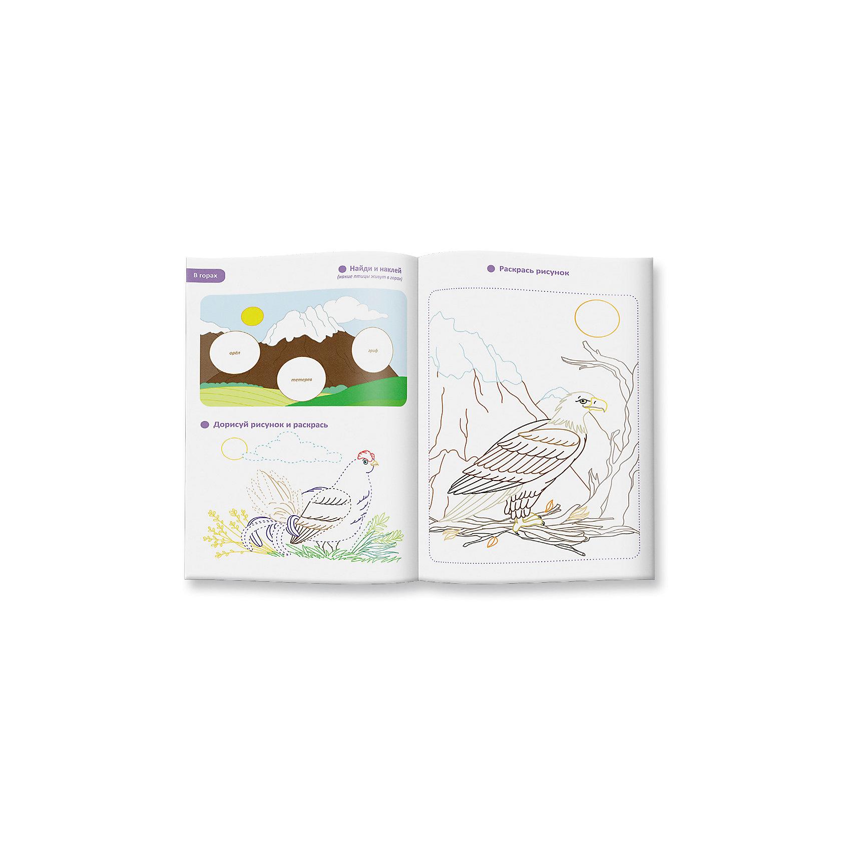 Обучающая раскраска с наклейками ПтицыБлагодаря раскраске с наклейками «Птицы. Кто где обитает» Ваш ребёнок узнает, какие птицы обитают в Африке, в Антарктиде и на других континентах. Ваш малыш будет с любопытством клеить, дорисовывать и раскрашивать пингвина, орла, курочку и других пернатых.<br><br>Ширина мм: 295<br>Глубина мм: 210<br>Высота мм: 3<br>Вес г: 110<br>Возраст от месяцев: 36<br>Возраст до месяцев: 84<br>Пол: Унисекс<br>Возраст: Детский<br>SKU: 5423014