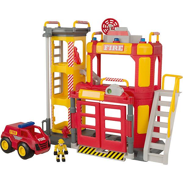 Большая пожарная станция, TeamsterzМашинки<br>Большая пожарная станция, Teamsterz<br><br>Характеристики:<br><br>• Возраст: от 3 лет<br>• Материал: пластмасса, металл<br>• Высота парковки: 38 см<br>• Батарейки: 3хААА<br>• В комплекте: станция, 2 пожарных и пожарная машина<br><br>Каждый ребенок мечтает быть спасателем. С помощью этого игрового набора малыш сможет разнообразить игру в пожарных и сделать ее максимально реалистичной и безопасной. Комплекс обладает световыми и звуковыми эффектами. Дополнительно в комплекте идут два пожарных для игры и специальный автомобиль.<br><br>Большая пожарная станция, Teamsterz можно купить в нашем интернет-магазине.<br><br>Ширина мм: 545<br>Глубина мм: 399<br>Высота мм: 151<br>Вес г: 1772<br>Возраст от месяцев: 36<br>Возраст до месяцев: 168<br>Пол: Мужской<br>Возраст: Детский<br>SKU: 5427396