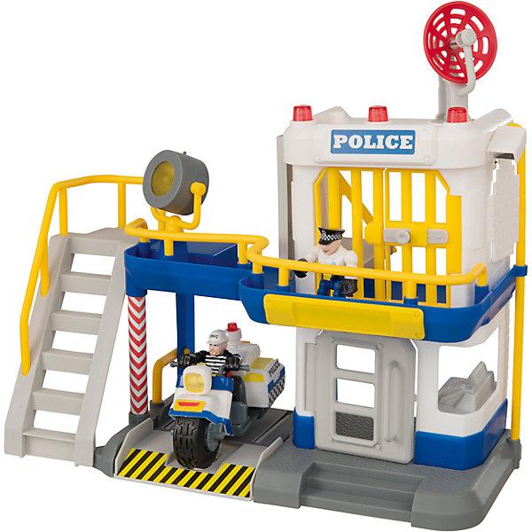 Полицейский участок, TeamsterzПарковки и гаражи<br>Полицейский участок, Teamsterz<br><br>Характеристики:<br><br>• Возраст: от 3 лет<br>• Материал: пластмасса, металл<br>• Высота парковки: 38 см<br>• Батарейки: 3хААА<br>• В комплекте: станция, 2 фигурки, мотоцикл<br><br>Каждый ребенок мечтает помогать миру бороться с преступностью. С помощью этого игрового набора малыш сможет разнообразить игру в полицейских и сделать ее максимально реалистичной и безопасной. Комплекс обладает световыми и звуковыми эффектами. Дополнительно в комплекте идут две фигурки для игры и вертолет.<br><br>Полицейский участок, Teamsterz можно купить в нашем интернет-магазине.<br>Ширина мм: 386; Глубина мм: 322; Высота мм: 143; Вес г: 976; Возраст от месяцев: 36; Возраст до месяцев: 168; Пол: Мужской; Возраст: Детский; SKU: 5427399;
