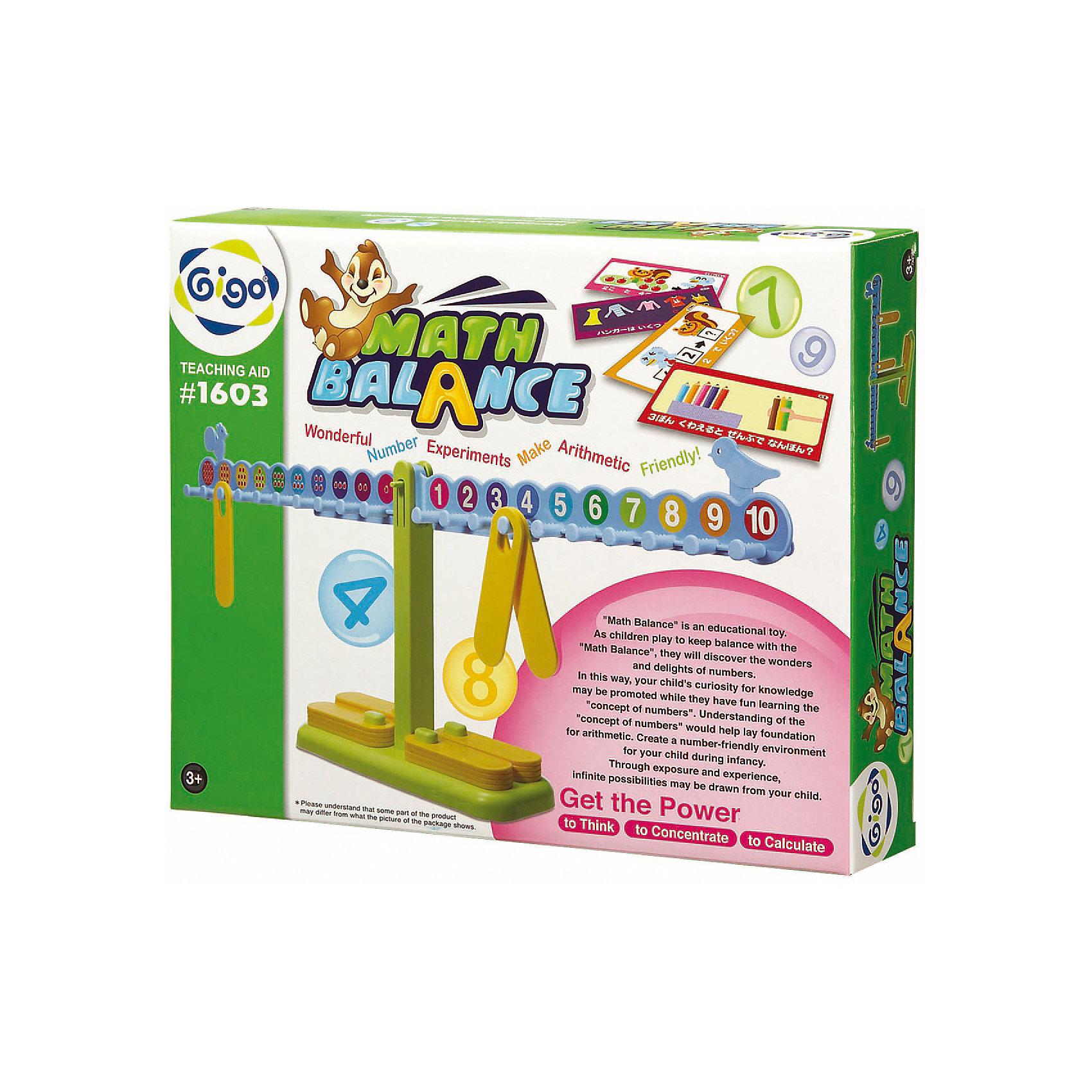 Занимательные весы MATH BALANCE, GigoОбучающие игры<br>Конструктор Gigo Math balance (Гиго. Занимательные весы) дает возможность в игровой форме освоить счет, сложение, вычитание, умножение и деление. В набор входит методическое пособие, которое поможет организовать обучение ребенка.<br><br>Ширина мм: 270<br>Глубина мм: 60<br>Высота мм: 340<br>Вес г: 1074<br>Возраст от месяцев: 36<br>Возраст до месяцев: 180<br>Пол: Унисекс<br>Возраст: Детский<br>SKU: 5427693