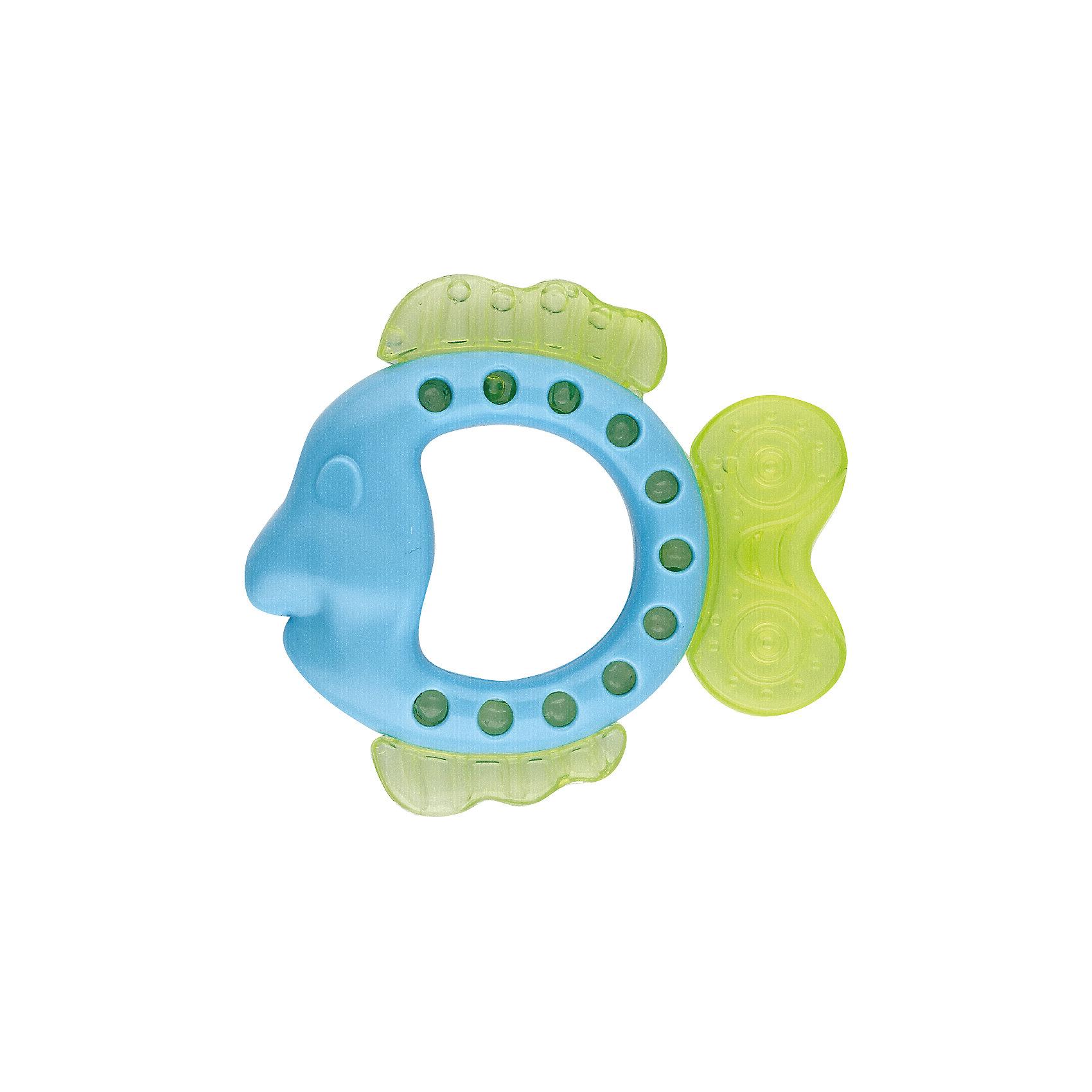 Игрушка с водой Рыбка, KurnosikiИгрушки для ванны<br>Характеристики:<br><br>• Наименование: прорезыватель<br>• Пол: универсальный<br>• Материал: пластик, вода<br>• Цвет: зеленый, голубой<br>• Наличие выпуклых элементов разной формы и фактуры <br>• Вес: 105 г<br>• Параметры (Д*Ш*В): 10,5*9*2,5 см <br>• Упаковка: блистер c с европодвесом<br><br>Игрушка с водой Рыбка, Kurnosiki выполнена из пластика различной фактуры. Корпус прорезывателя представляет собой рыбку, плавники которой выполнены из мягкого полимера, наполненного водой. Поверхность игрушки с выпуклыми элементами различной формы обеспечивает массаж десен, а плавники и хвостик с водой обладают охлаждающим эффектом. <br><br>Прорезыватель имеет эргономичную форму, благодаря чему малышу будет не только удобно держать в руках, но и развивать хватательный рефлекс. За счет деталей, выполненных в ярких цветах, прорезыватель позволит развивать цветовое и зрительное восприятие у ребенка.<br><br>Игрушку с водой Рыбка, Kurnosiki можно купить в нашем интернет-магазине.<br><br>Ширина мм: 30<br>Глубина мм: 120<br>Высота мм: 170<br>Вес г: 78<br>Возраст от месяцев: 4<br>Возраст до месяцев: 18<br>Пол: Унисекс<br>Возраст: Детский<br>SKU: 5428664